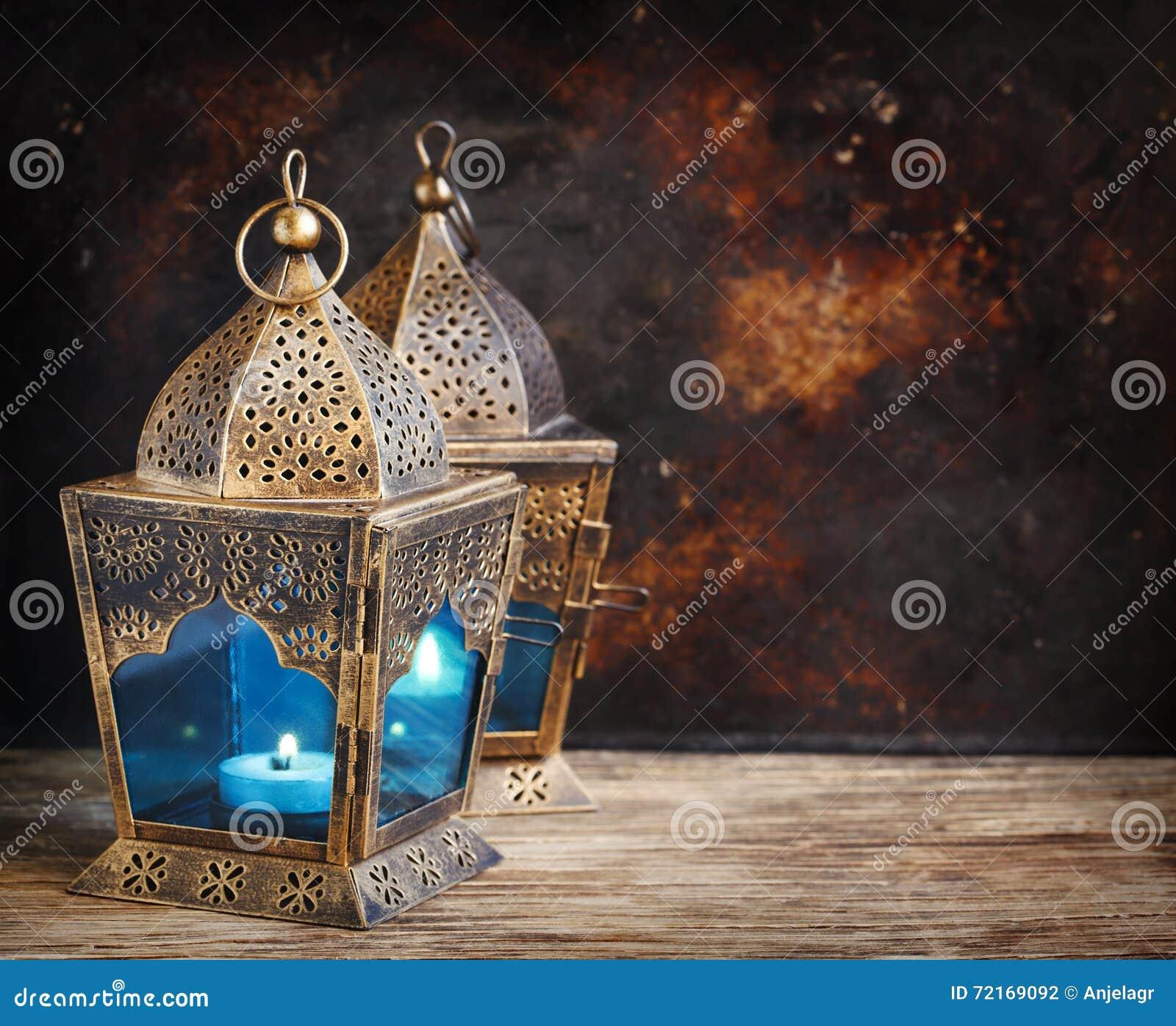 Lanternas do árabe do ouro