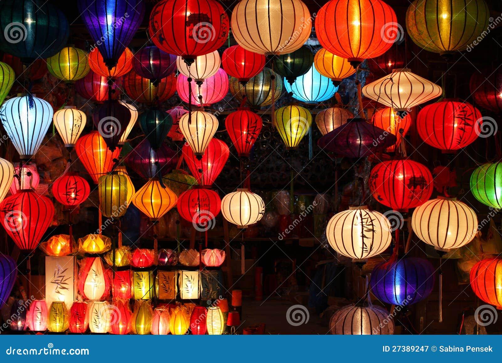Decorazioni Con Lanterne Cinesi : Lanterne cinesi con gli indicatori luminosi come decoratio di