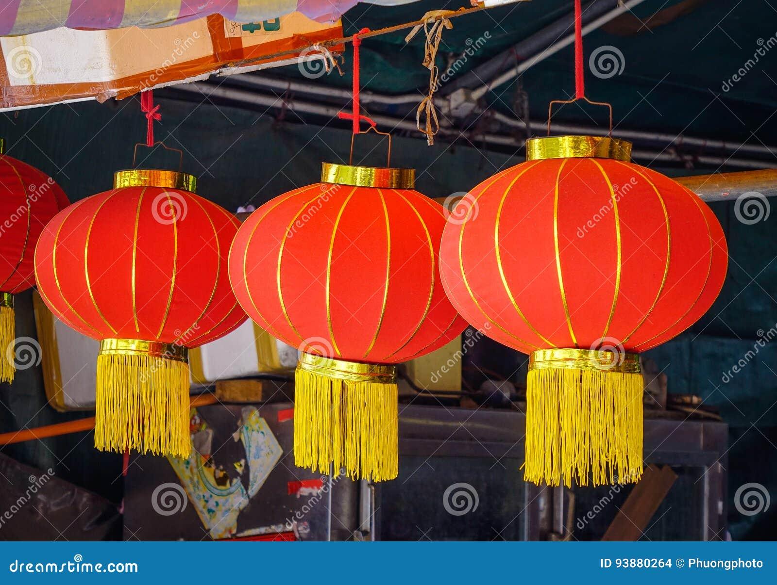 Decorazioni Con Lanterne Cinesi : Lanterne cinesi per la decorazione fotografia stock immagine di