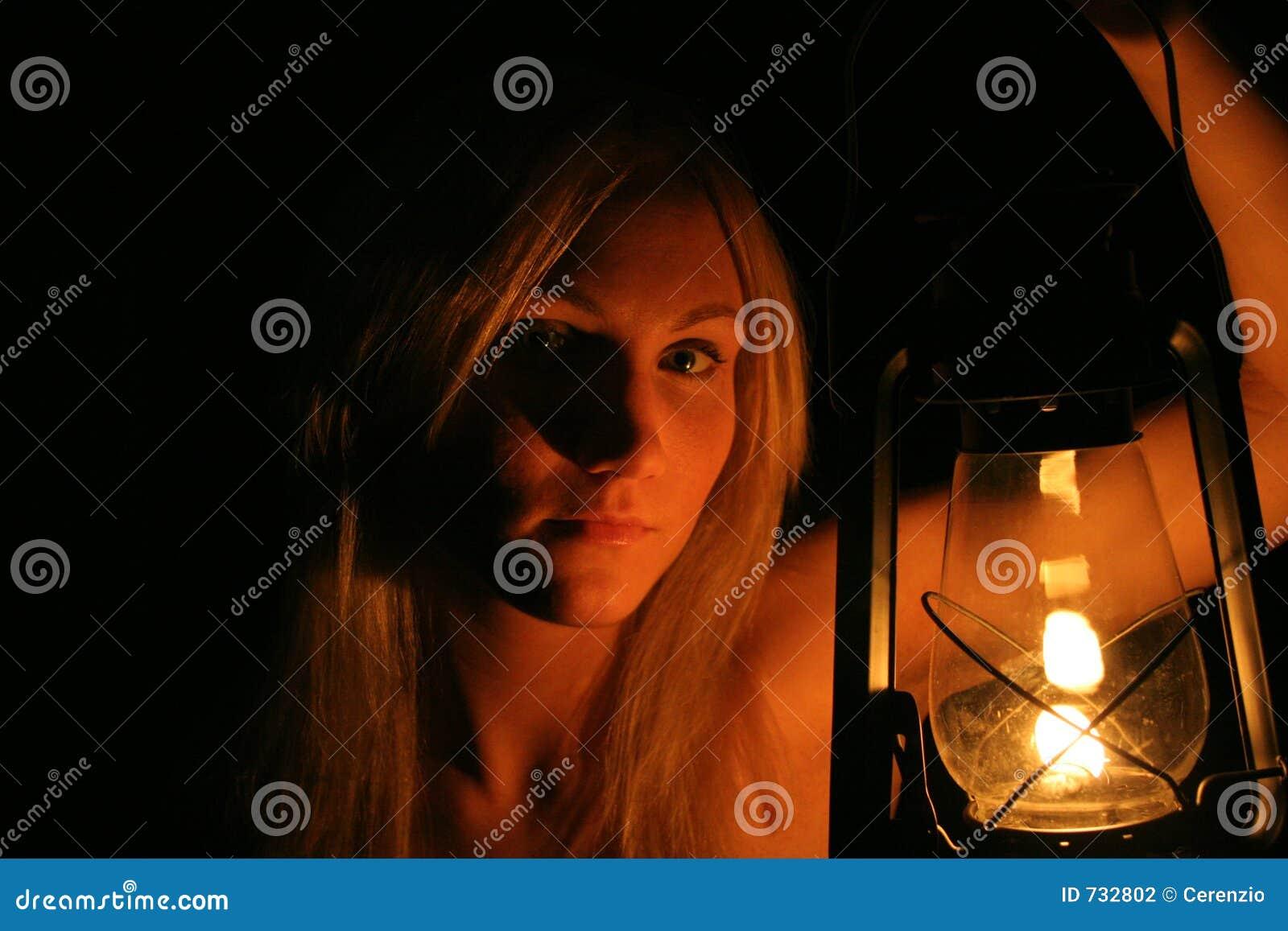 Lanterne de fixation de fille