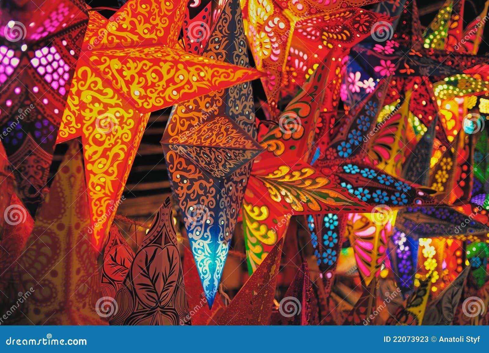 Lanterne di carta fotografie stock immagine 22073923 for Decorazione lanterne natale