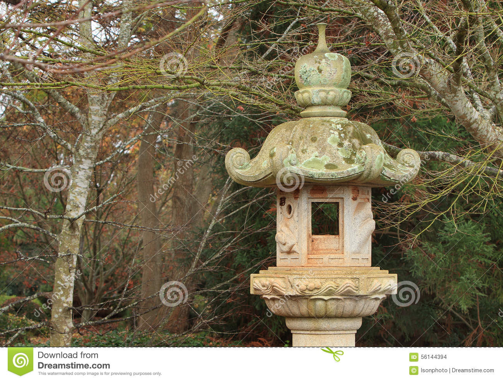 Lanterne Japonaise En Pierre Photo Stock Image 56144394