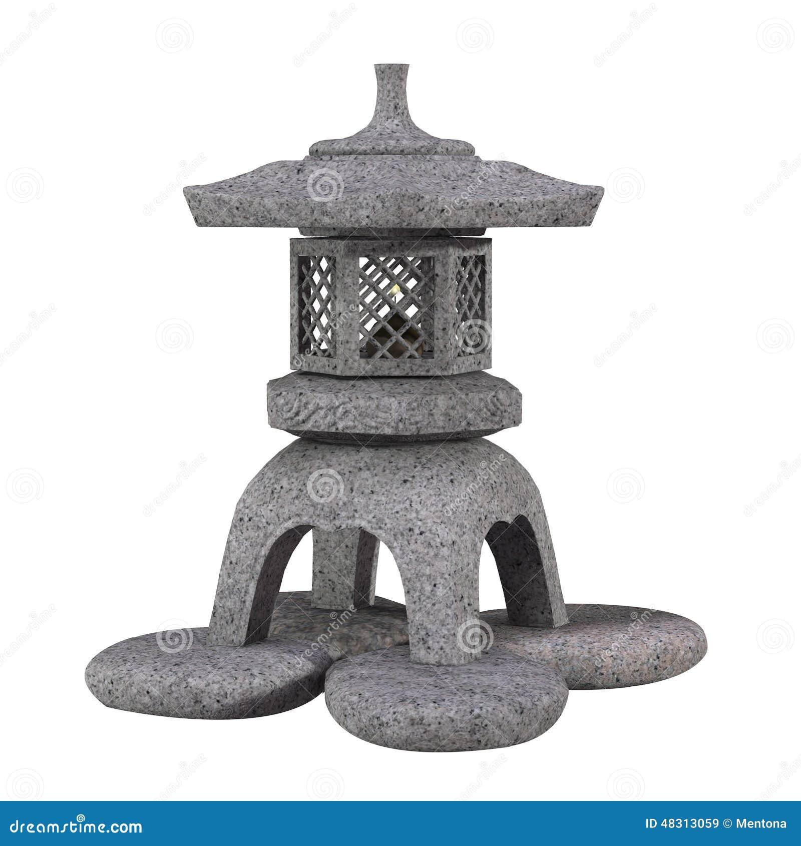lanterne japonaise traditionnelle de pierre de jardin illustration stock image 48313059. Black Bedroom Furniture Sets. Home Design Ideas