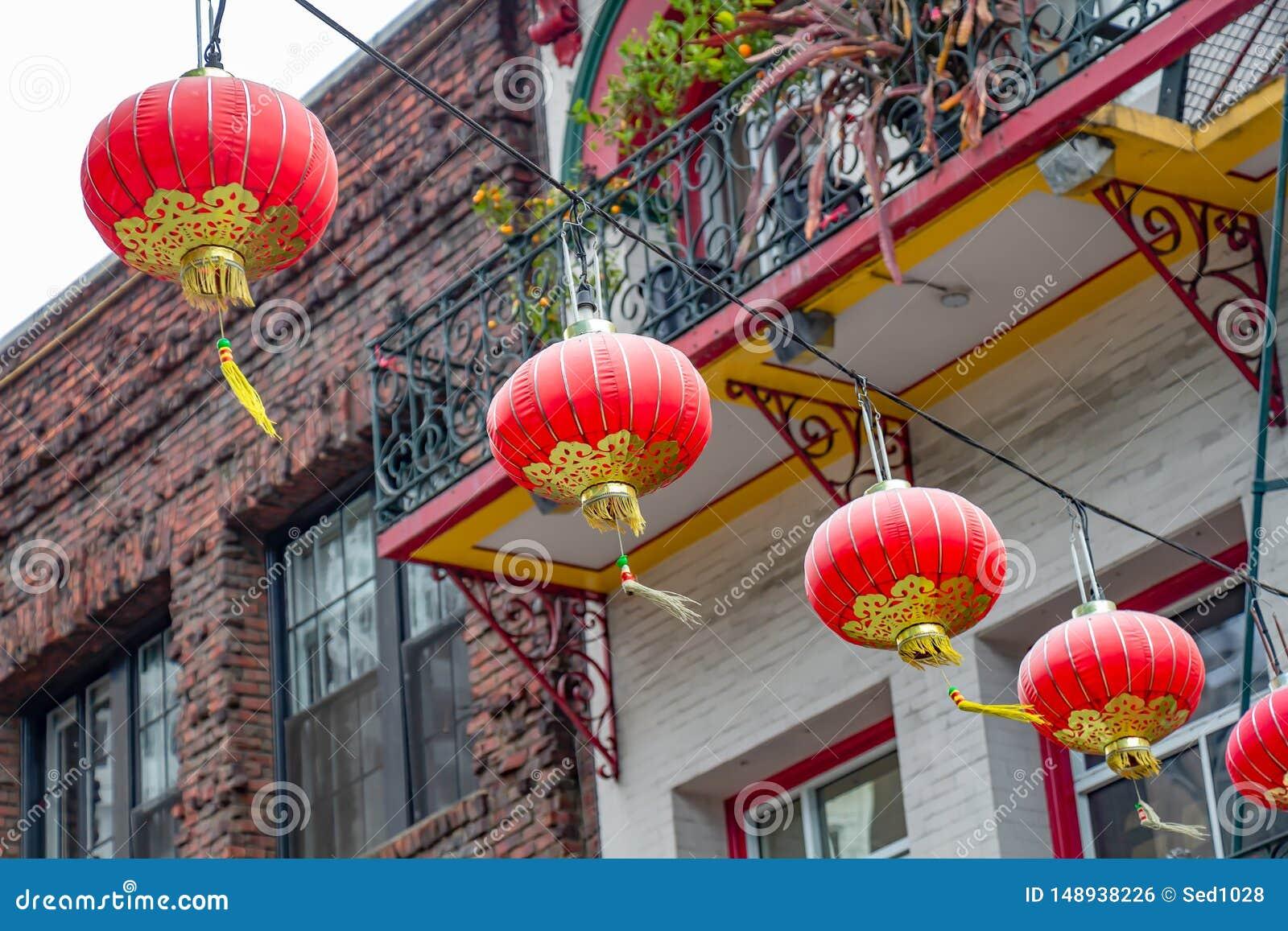 Lanternes chinoises de dessous