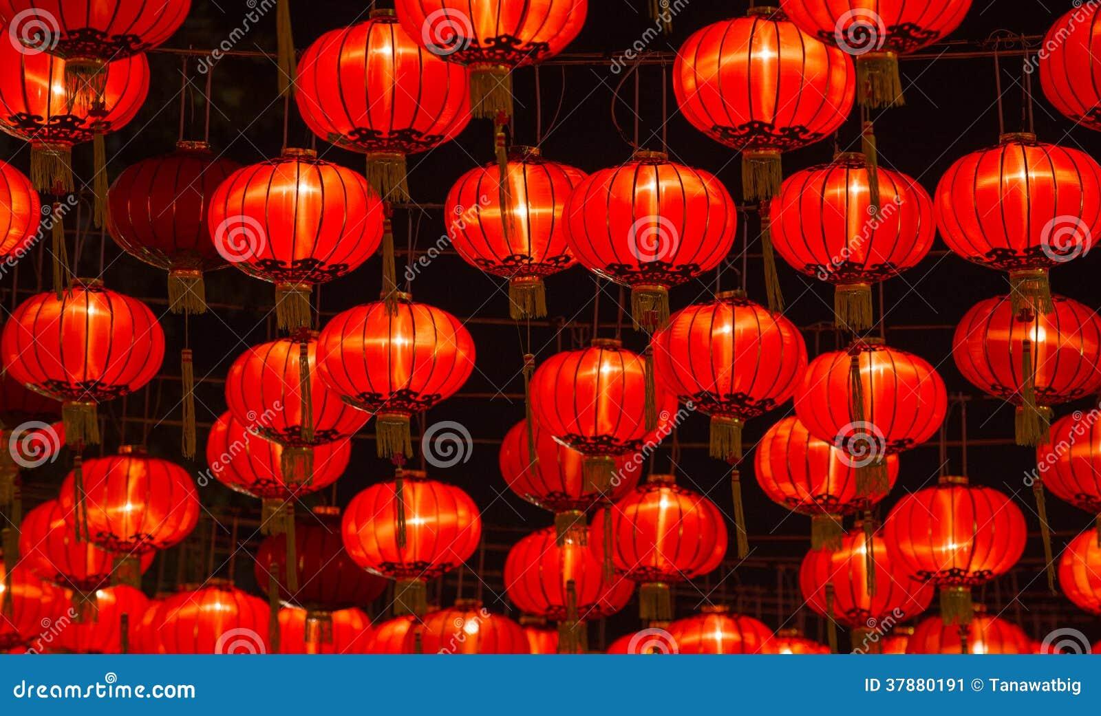 Lanternes chinoises de nouvelle année