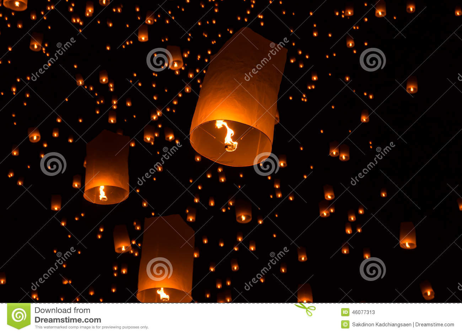Lanternes de ciel, lanternes volantes