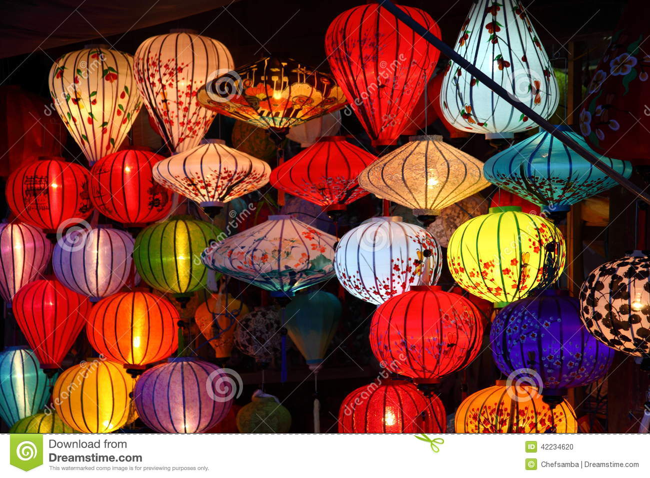 Download Lanterns stock photo. Image of moon, fullmoon, candle - 42234620