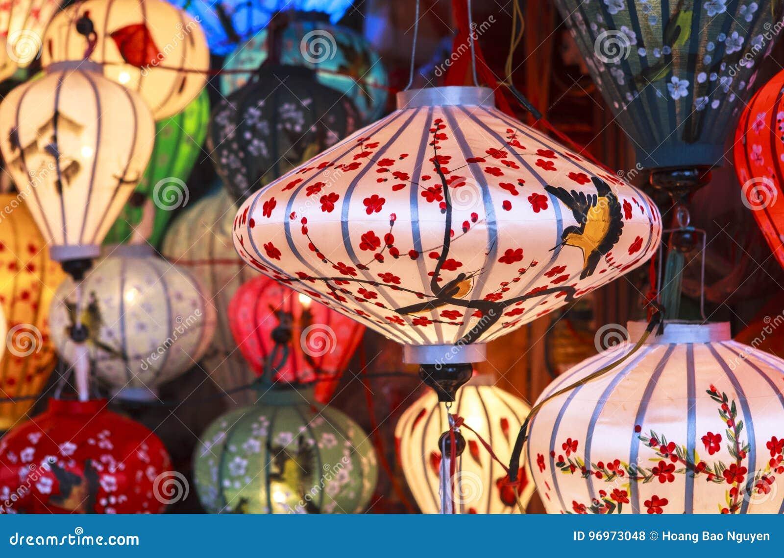 Lanterns In Old Street Hoi An, Vietnam Stock Photo - Image