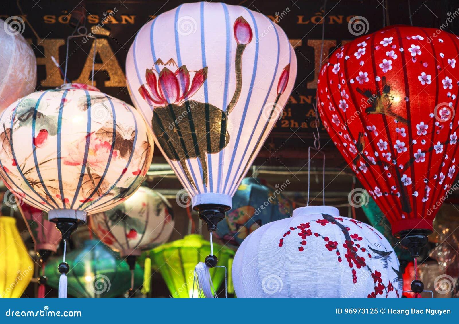 Lanterns In Old Street Hoi An, Vietnam Stock Image - Image