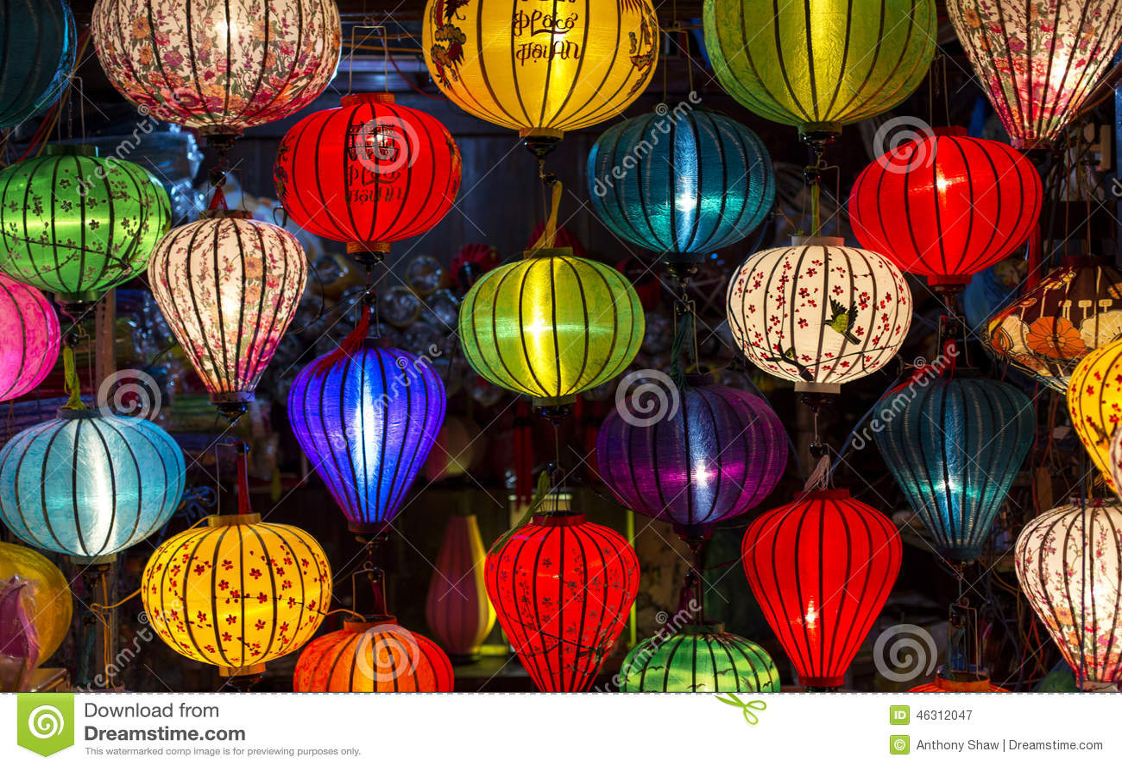 Lanterns at old town shop in Hoi An, Vietnam.