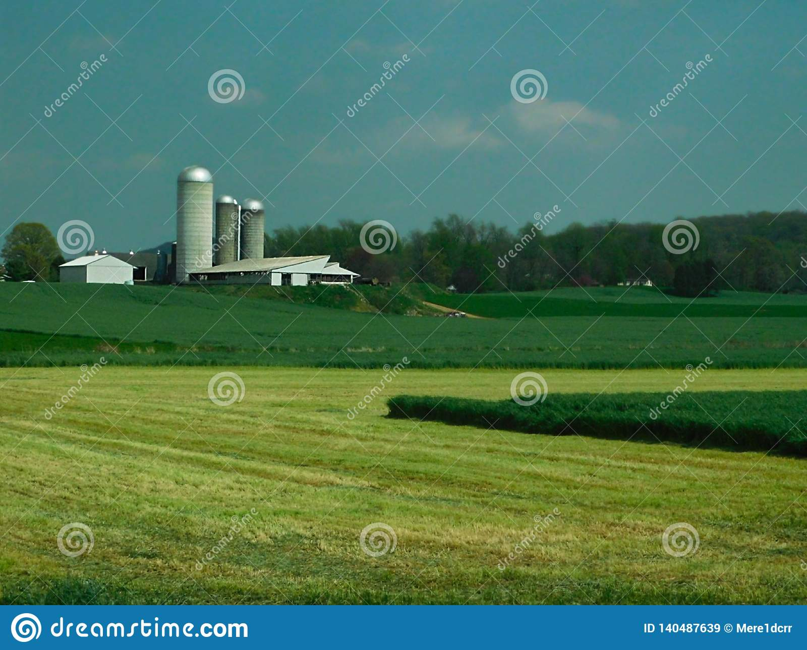 Lantgård, lantbrukarhem, silor och andra ut byggnader, Lancaster County, Pennsylvania
