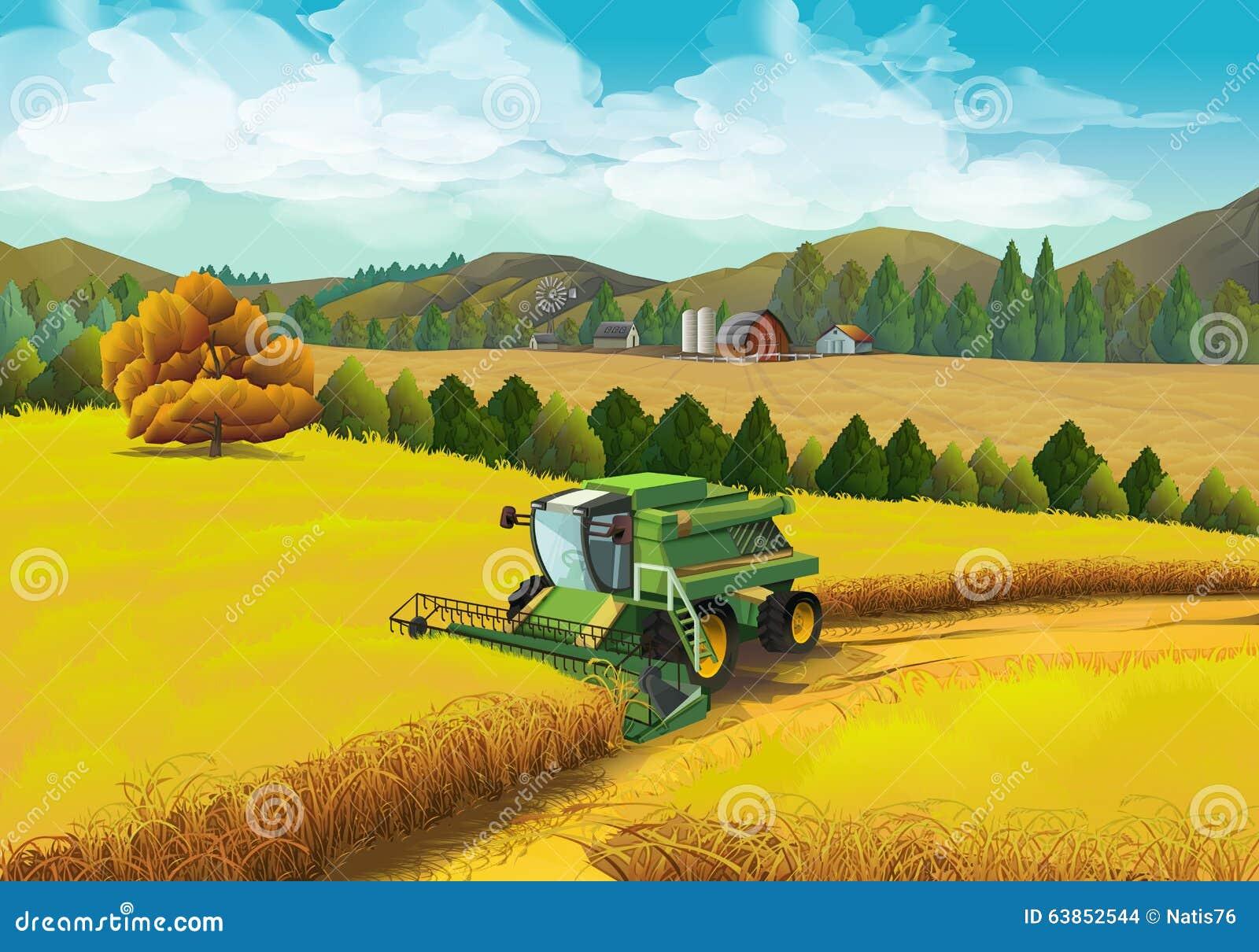 Lantligt landskap för lantgård