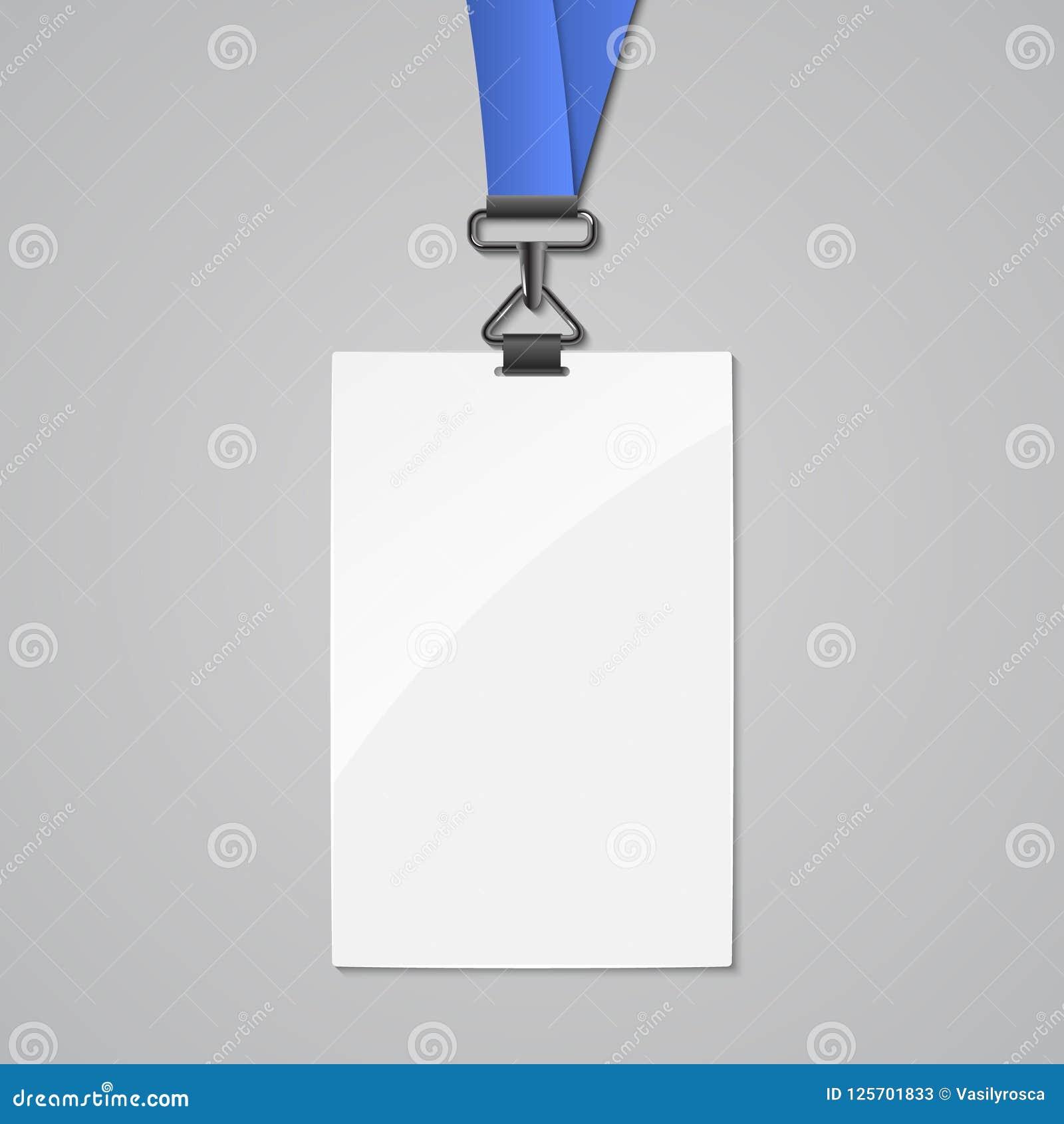 lanyard badge id card template blank identity lanyard