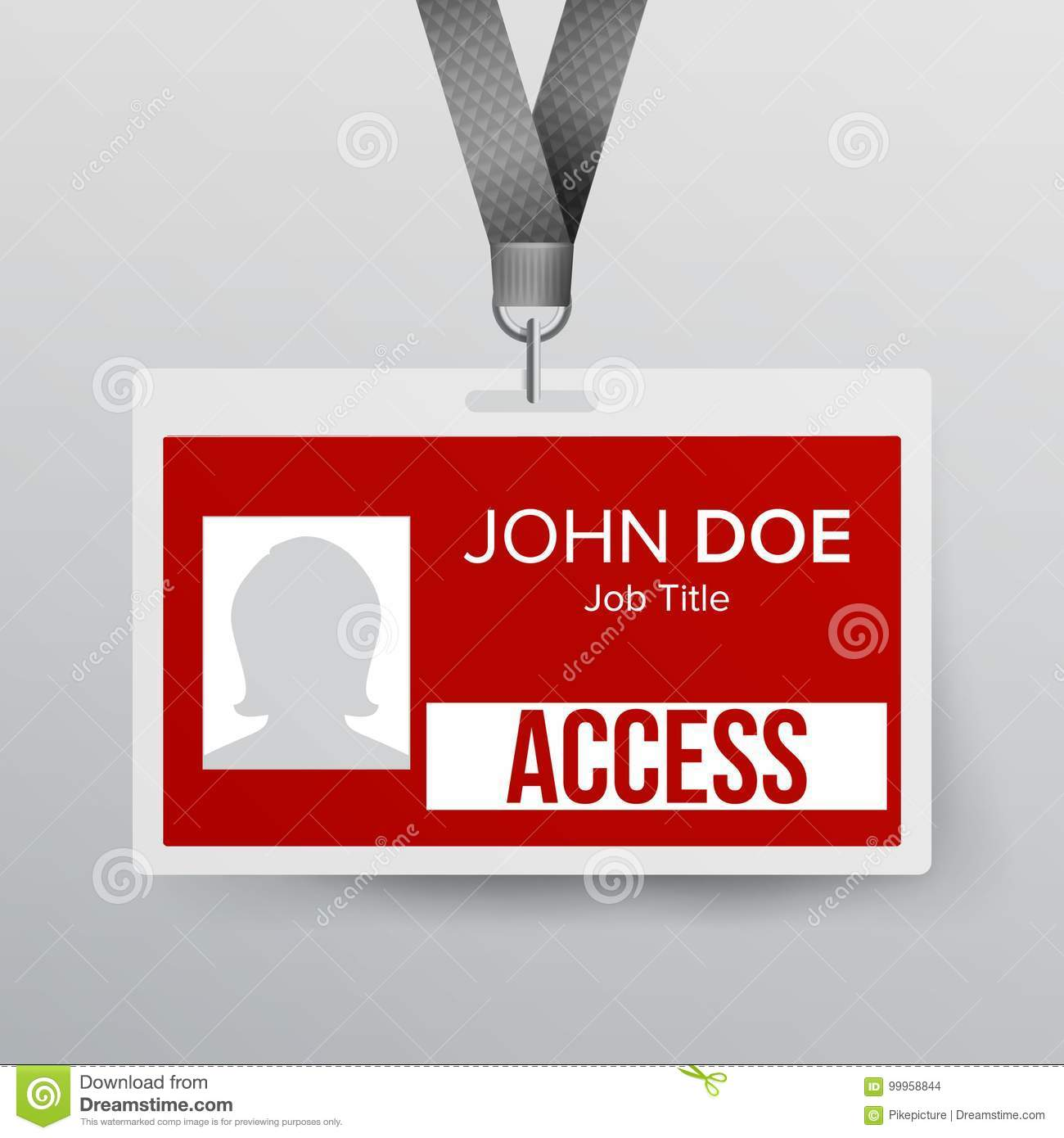 Lanyard Badge Vector Identity Card For Security To Business