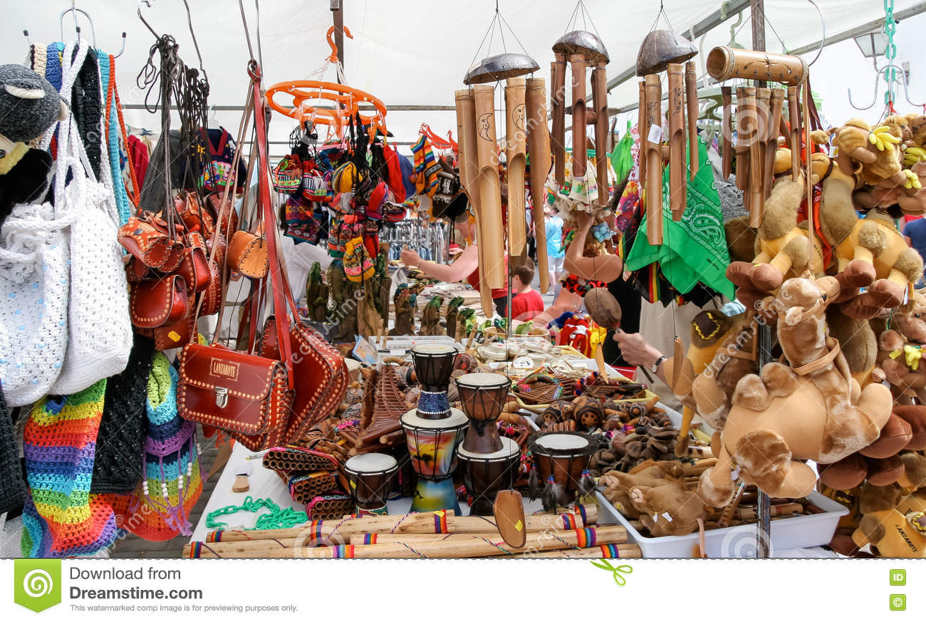 LANZAROTE, CANARY ISLANDS/SPAIN - JULY 31 : Various items for sa