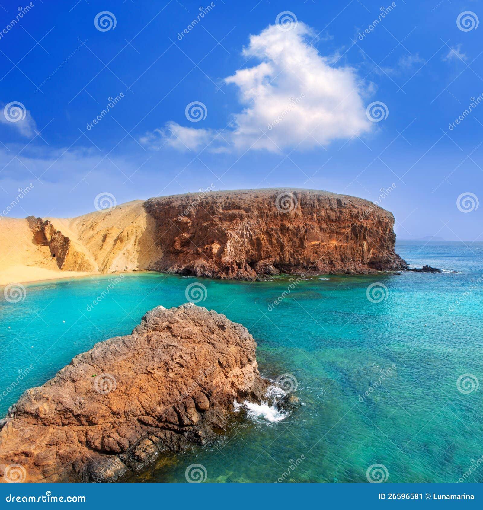 lanzarote el papagayo playa beach in canaries stock image image 26596581. Black Bedroom Furniture Sets. Home Design Ideas