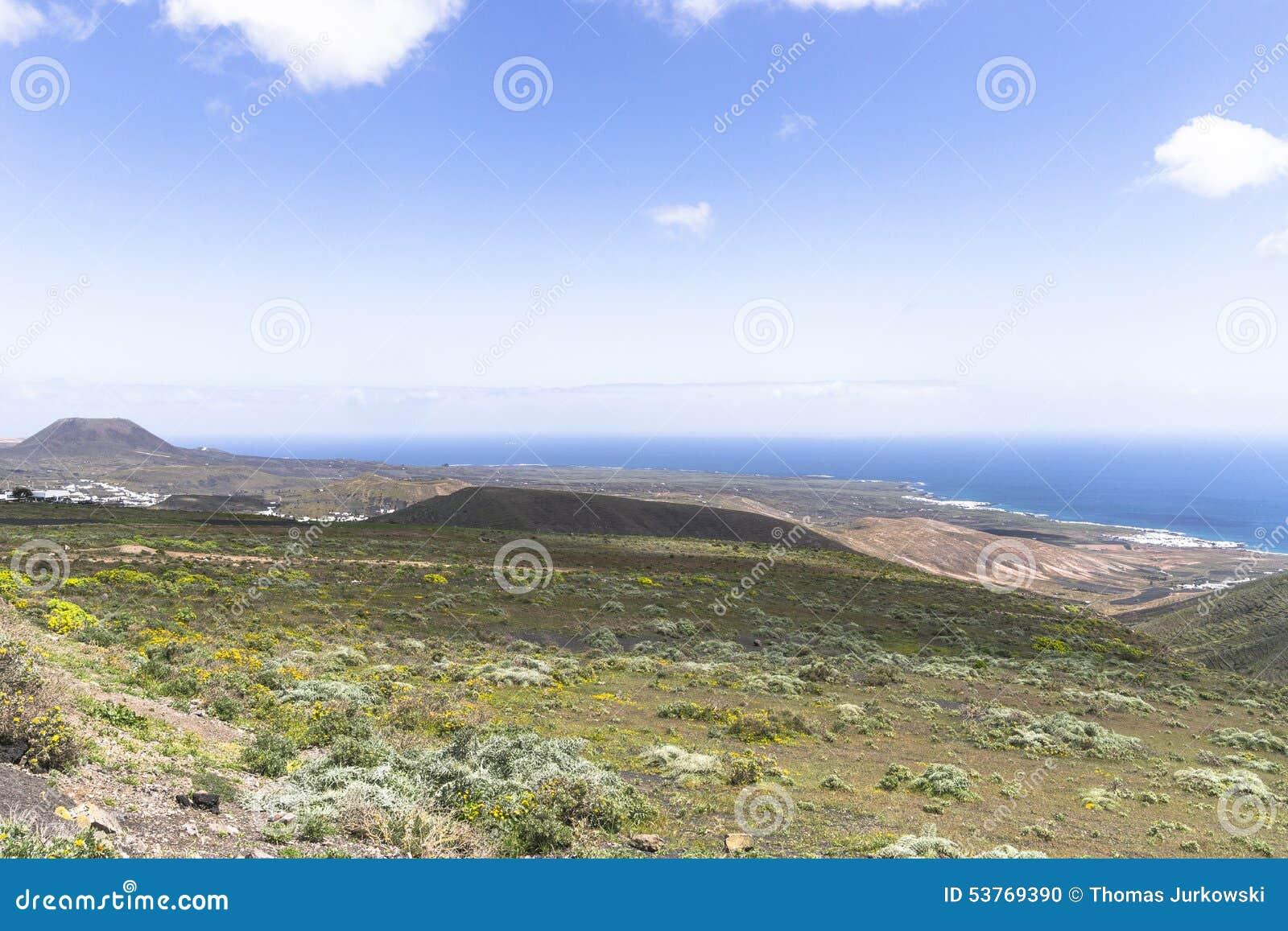 Lanzarote Landscapes Stock Photo Image Of Marina Hills