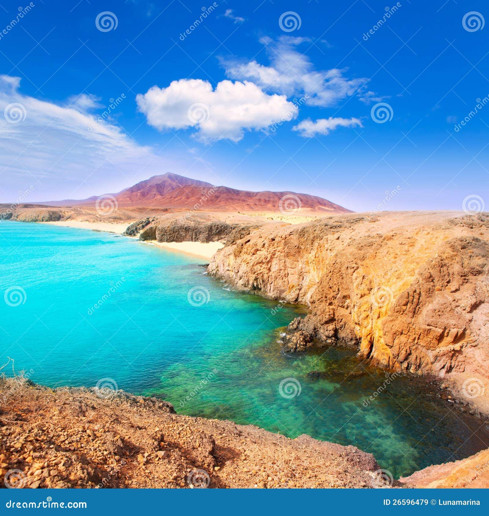 lanzarote playa del pozo beach costa papagayo royalty free stock images image 26596479. Black Bedroom Furniture Sets. Home Design Ideas