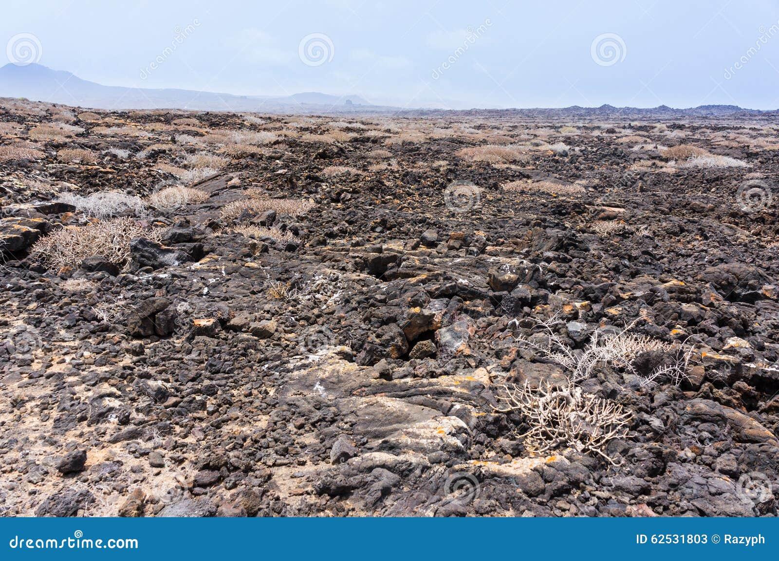 Lanzarote Timanfaya火山火山的熔岩