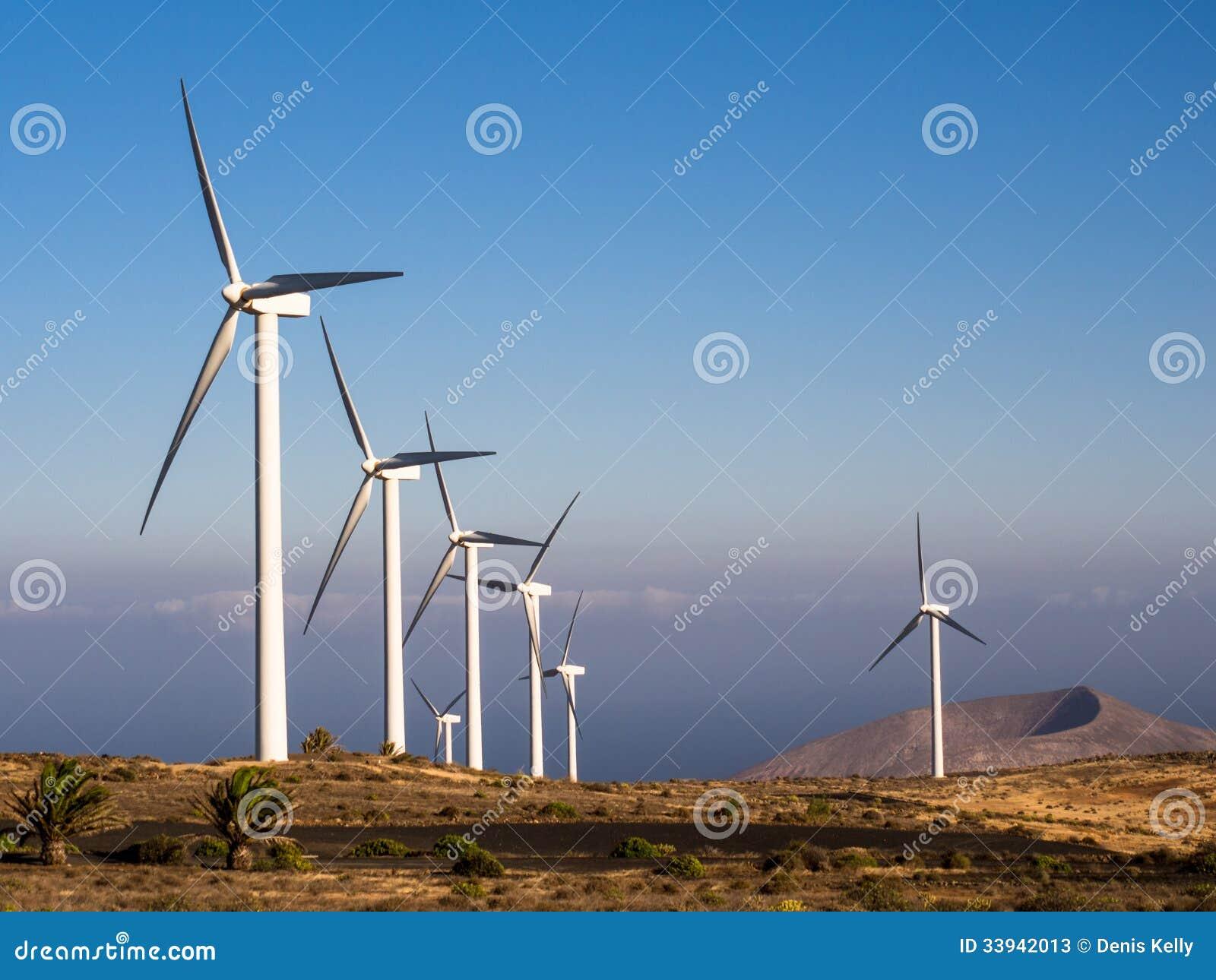 Wind Farm Turbines - Renewable Clean Green Energy