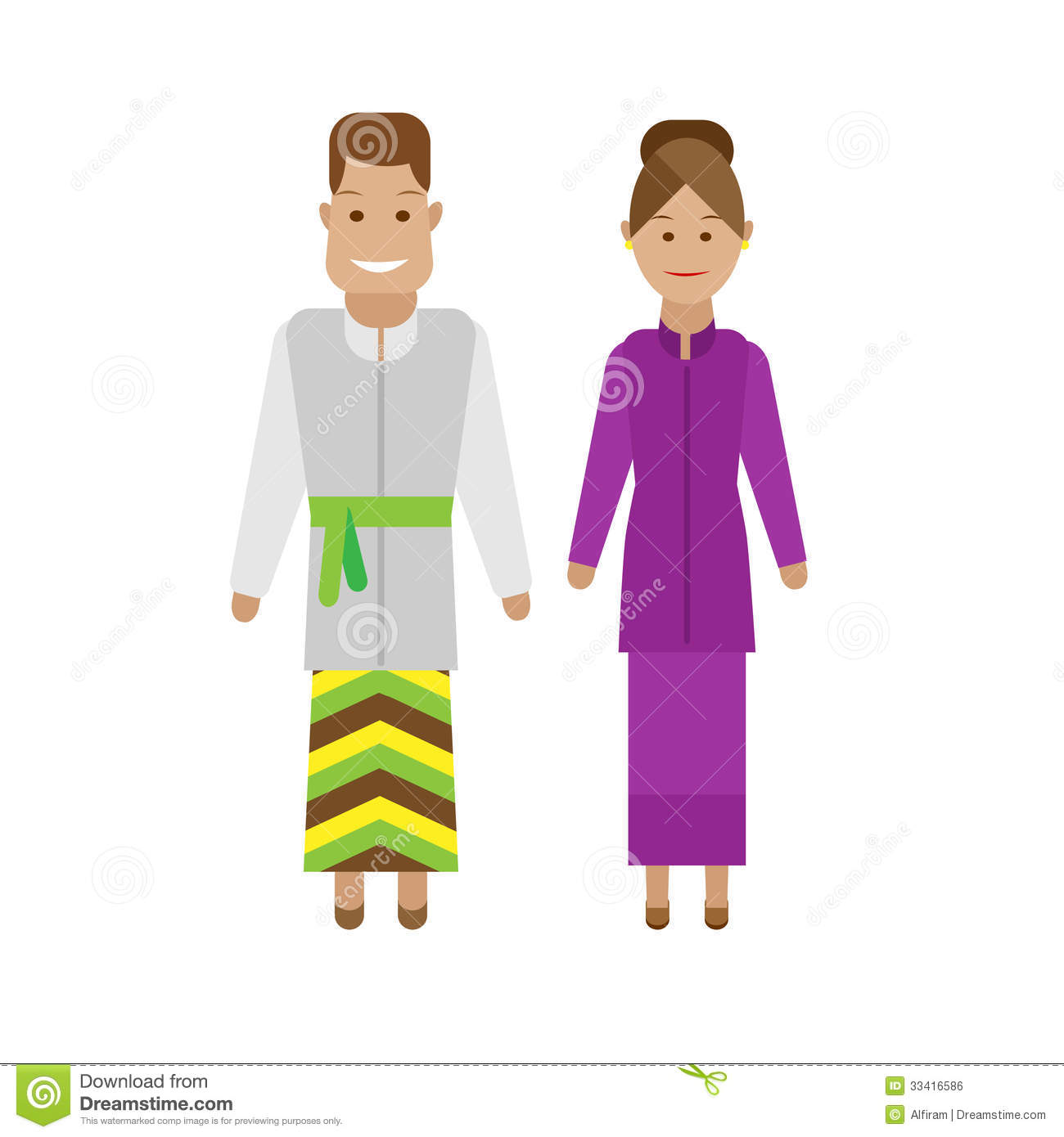 Lao National Dress Royalty Free Stock Image - Image: 33416586