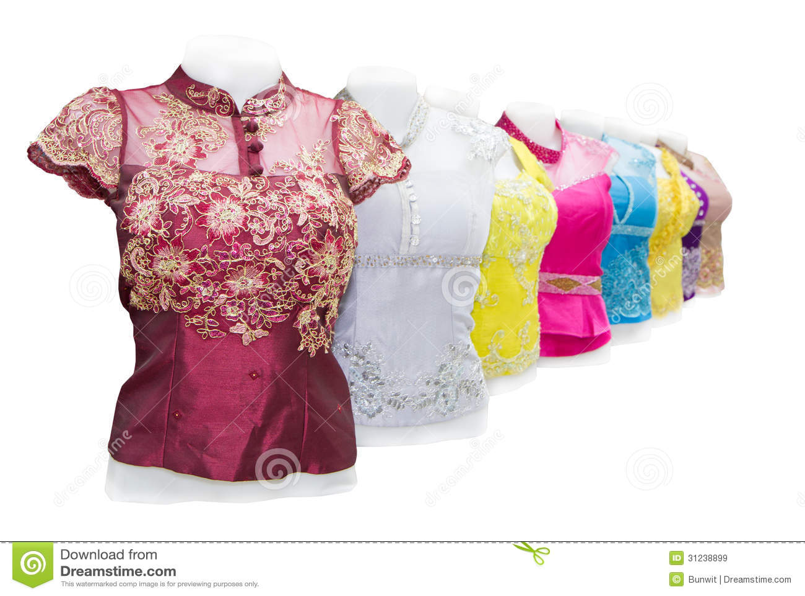 Laos Silk Cloth Handmade Product Stock Image Image Of Vientiane