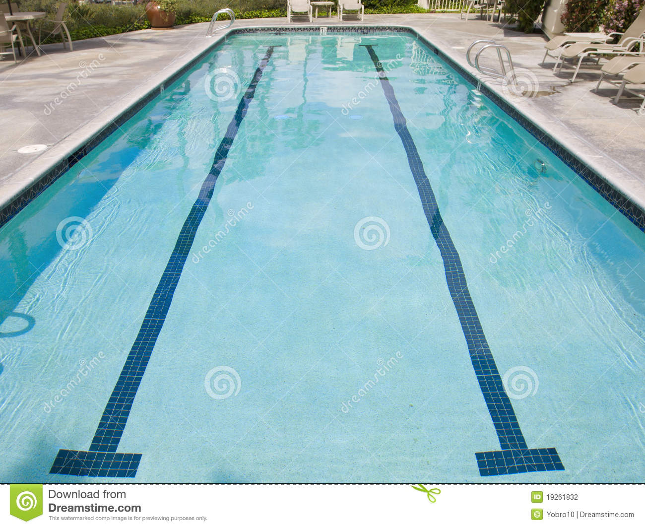 Lap Swimming Pool Stock Photo Image Of Workout Water 19261832
