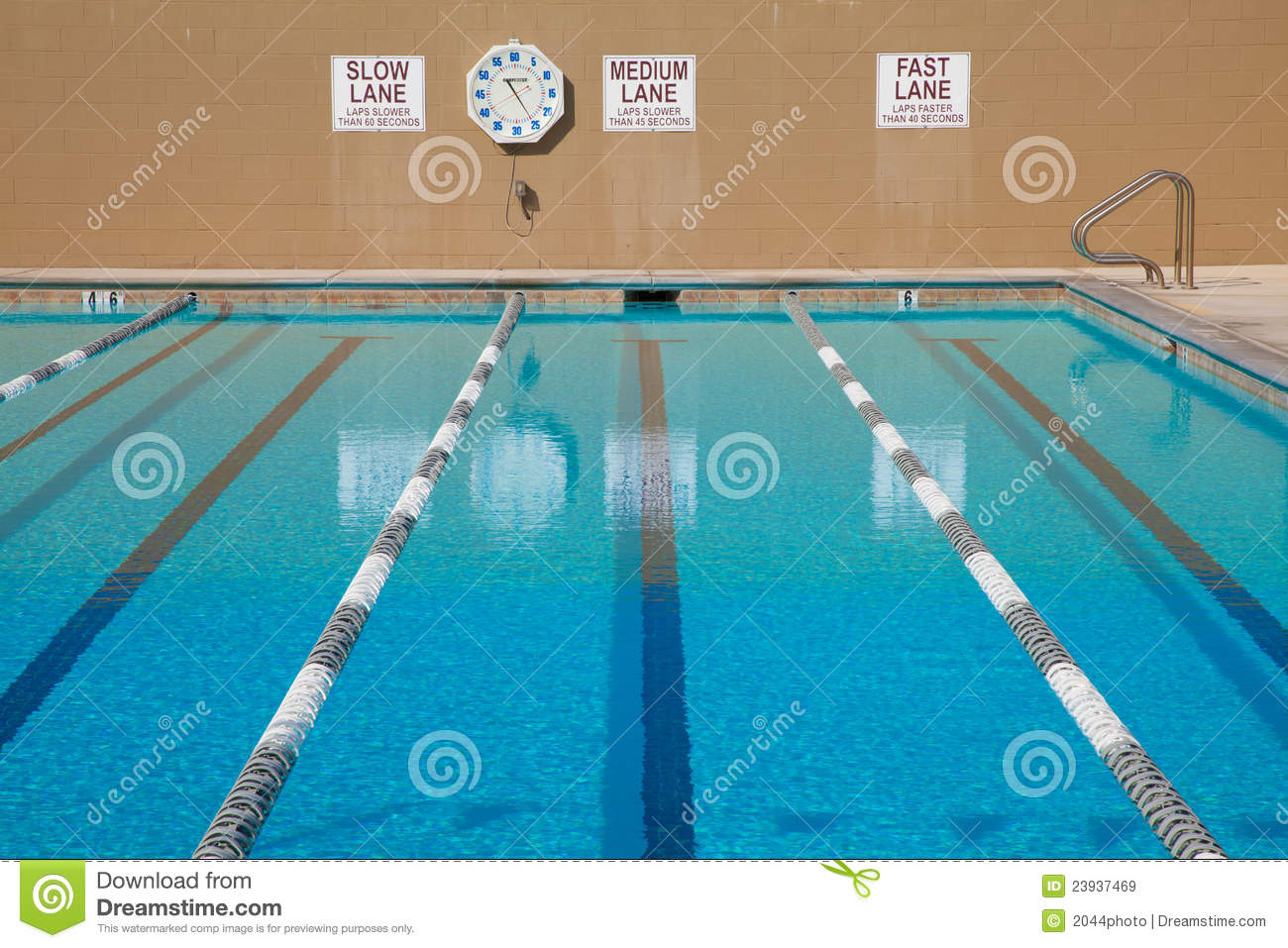 Lap Swimming Pool Stock Image Image Of Clock Exercise