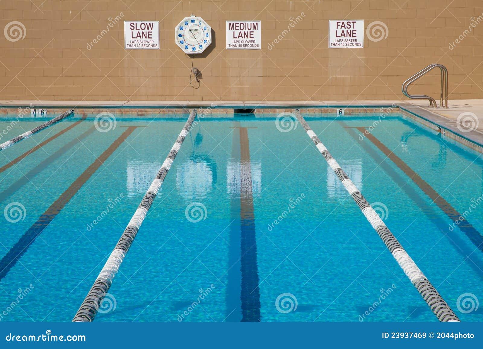 Lap Swimming Pool Stock Image Image Of Clock Exercise 23937469