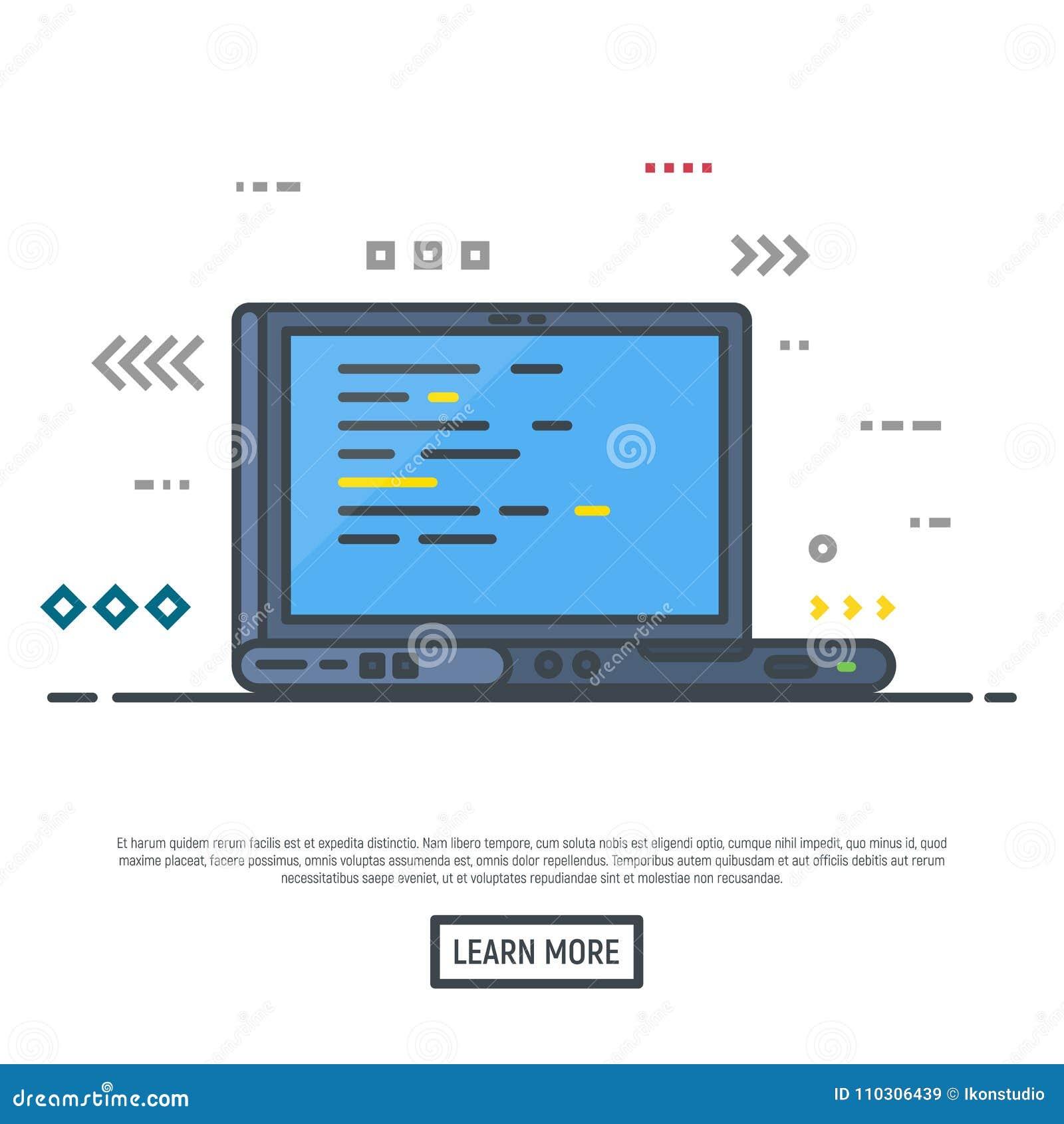 Lap-top με τον προγραμματισμό