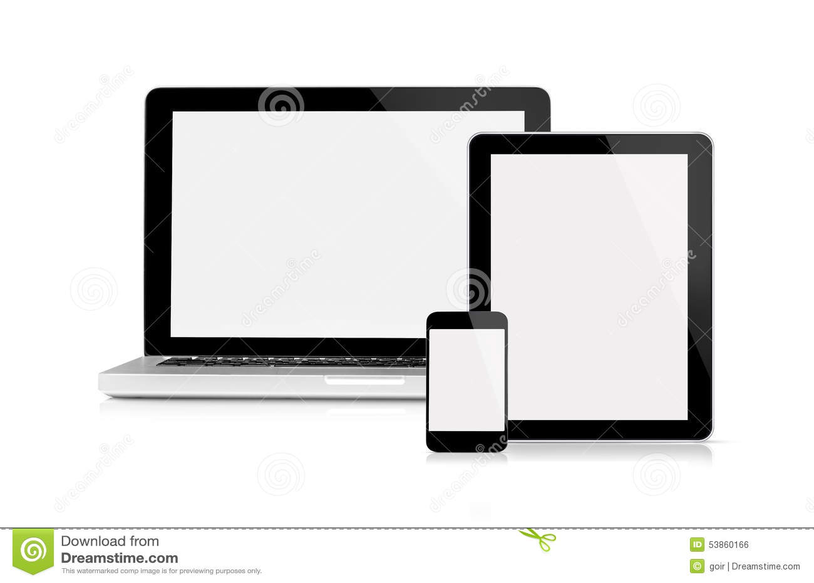 Lap-top, ταμπλέτα και κινητό τηλέφωνο