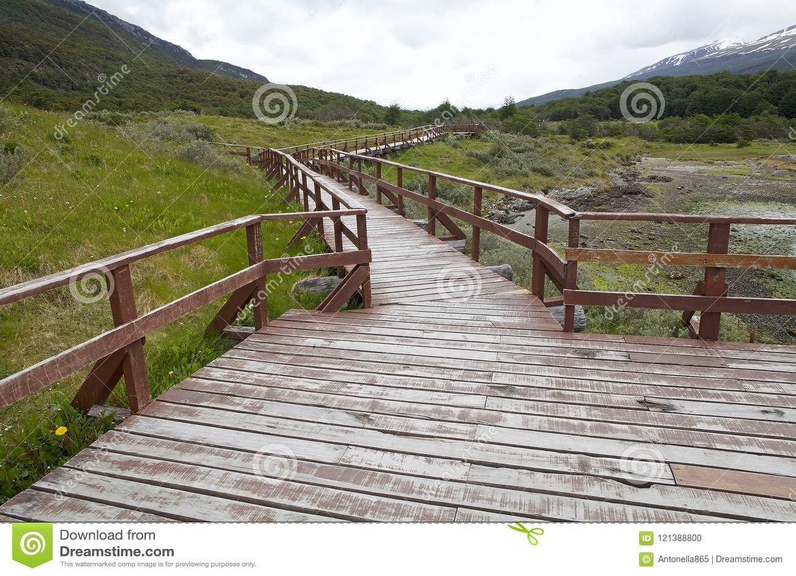Lapataiabaai langs de Kustsleep in Tierra del Fuego National Park, Argentinië