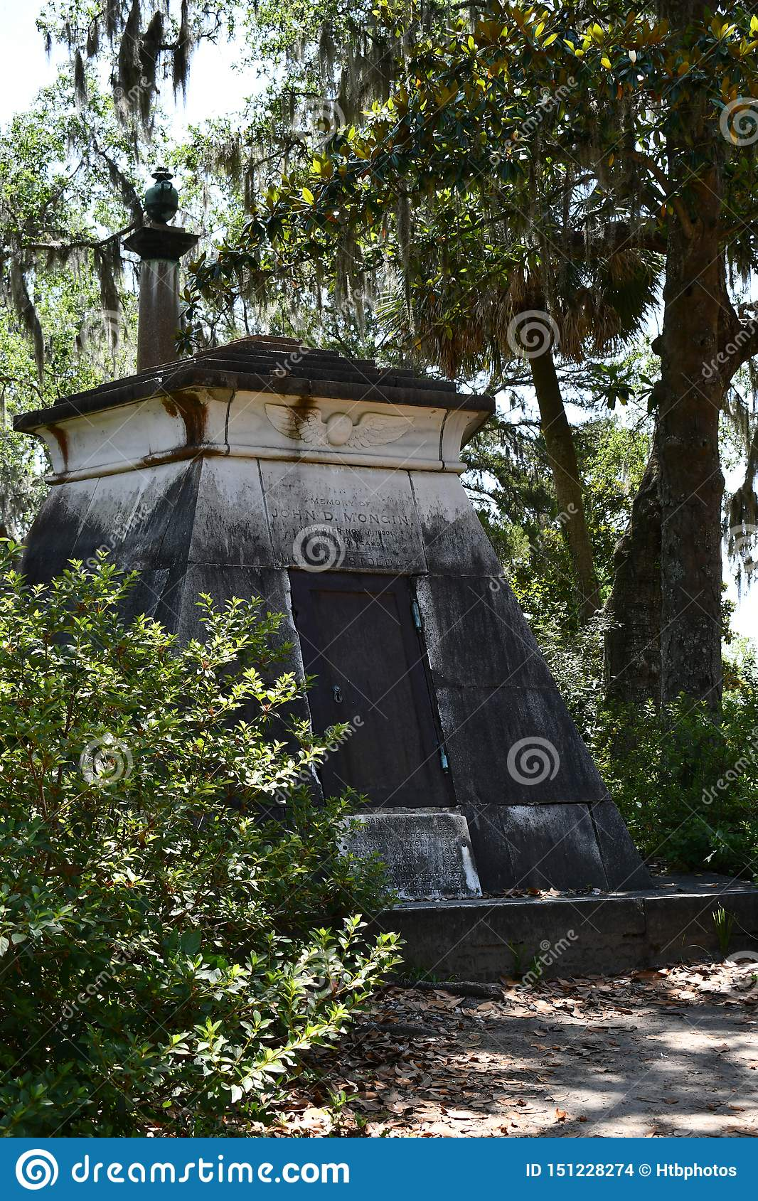 Lapide del cimitero al cimitero storico di Savannah Georgia