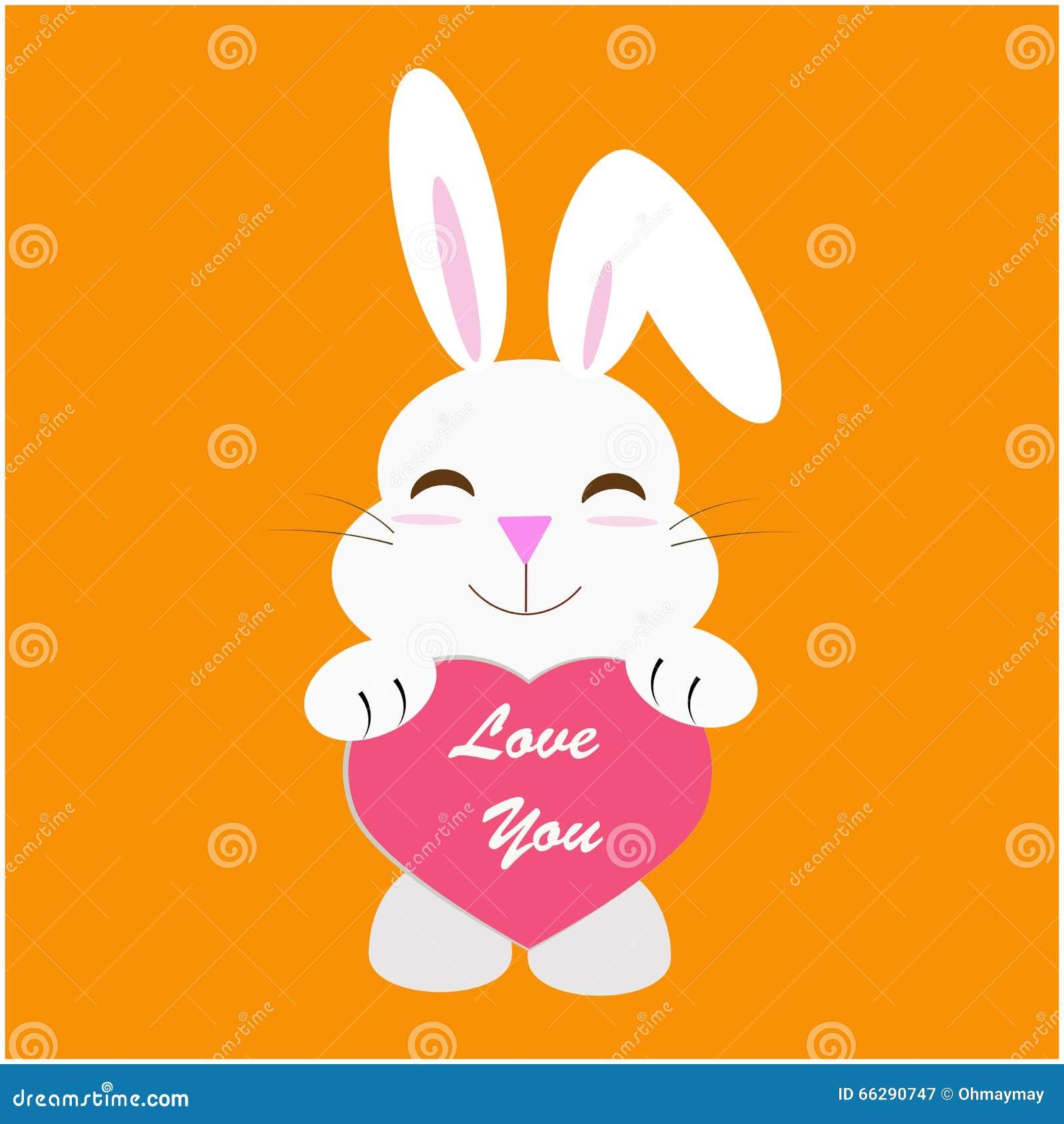 lapin avec le message d 39 amour illustration de vecteur illustration du amour valentine 66290747. Black Bedroom Furniture Sets. Home Design Ideas