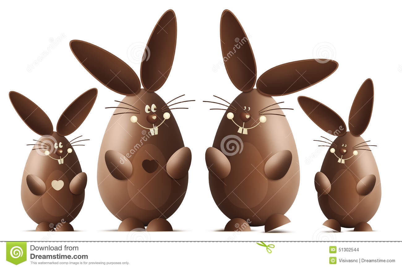 lapin de sourire de chocolat de p ques illustration stock image 51302544. Black Bedroom Furniture Sets. Home Design Ideas