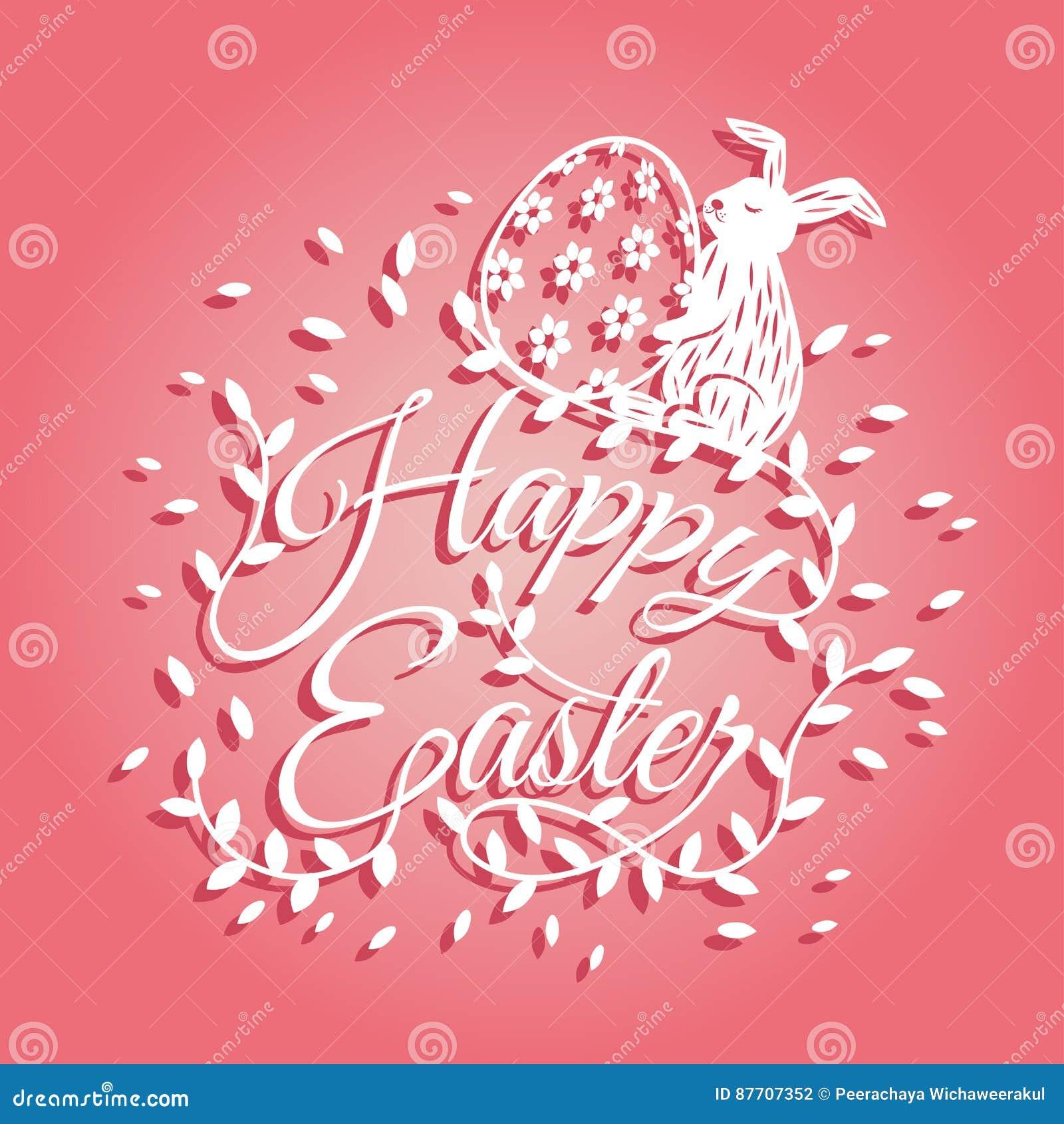 Lapin et fleurs pour la carte de voeux de jour de Pâques