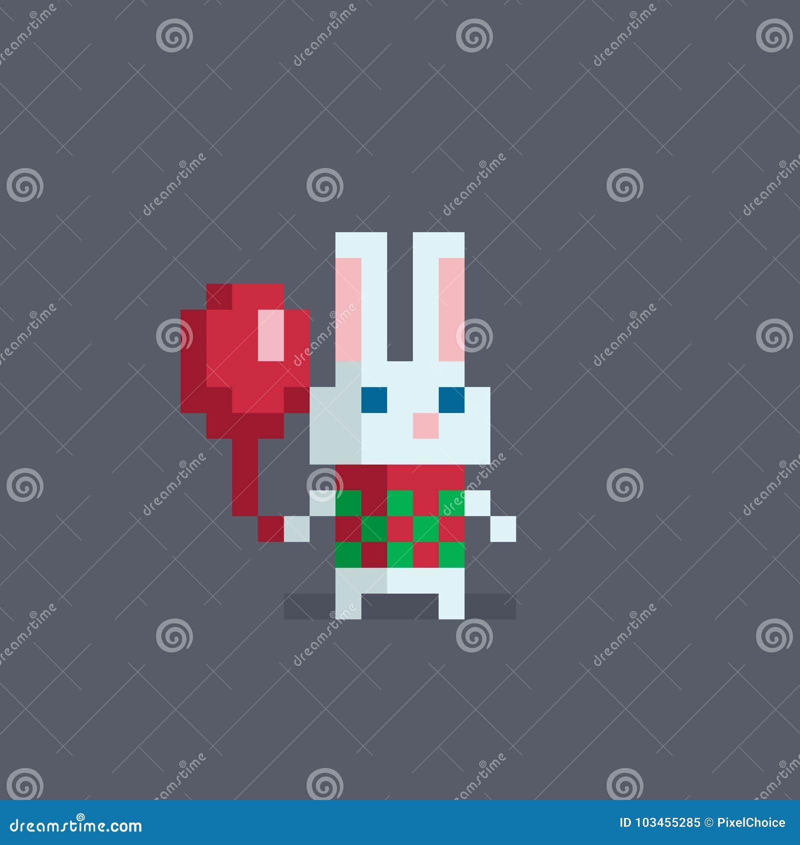Lapin Mignon Dart De Pixel Illustration De Vecteur