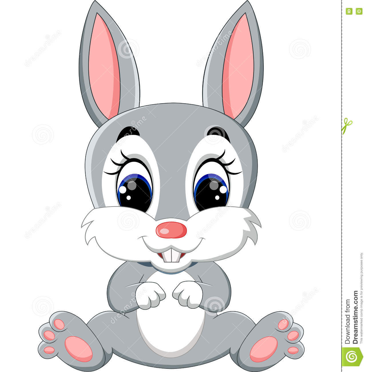 Lapin mignon de dessin anim illustration de vecteur illustration du fond adorable 72874235 - Dessin lapin mignon ...