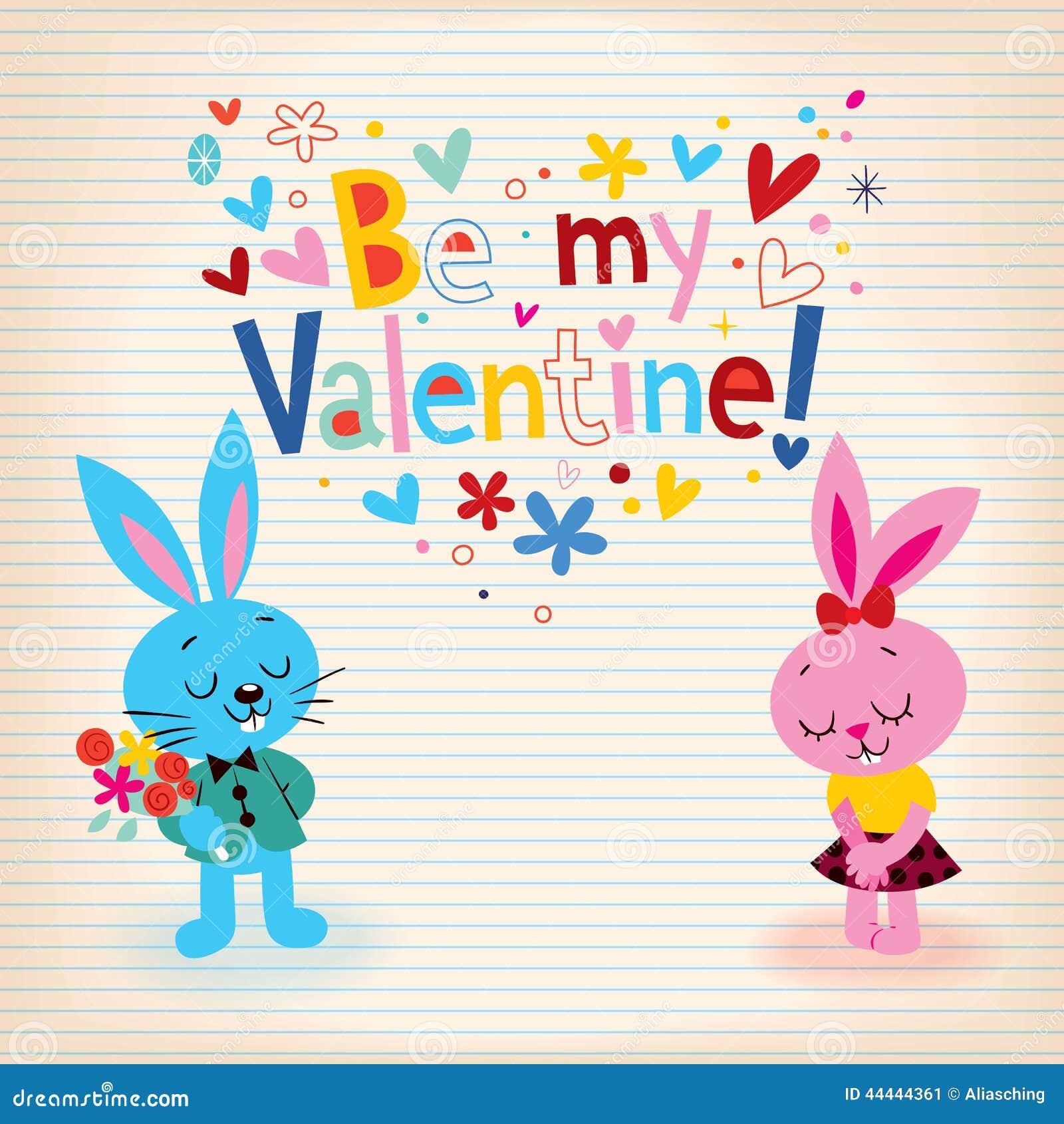 Lapins dans la carte de Saint-Valentin d amour