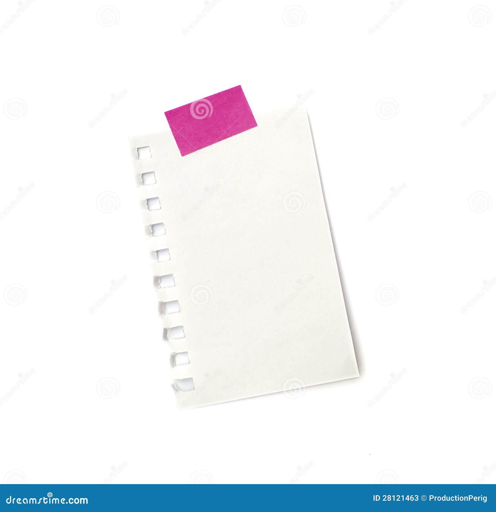 Lappa lite av pappers- som rymms av ett bindemedel