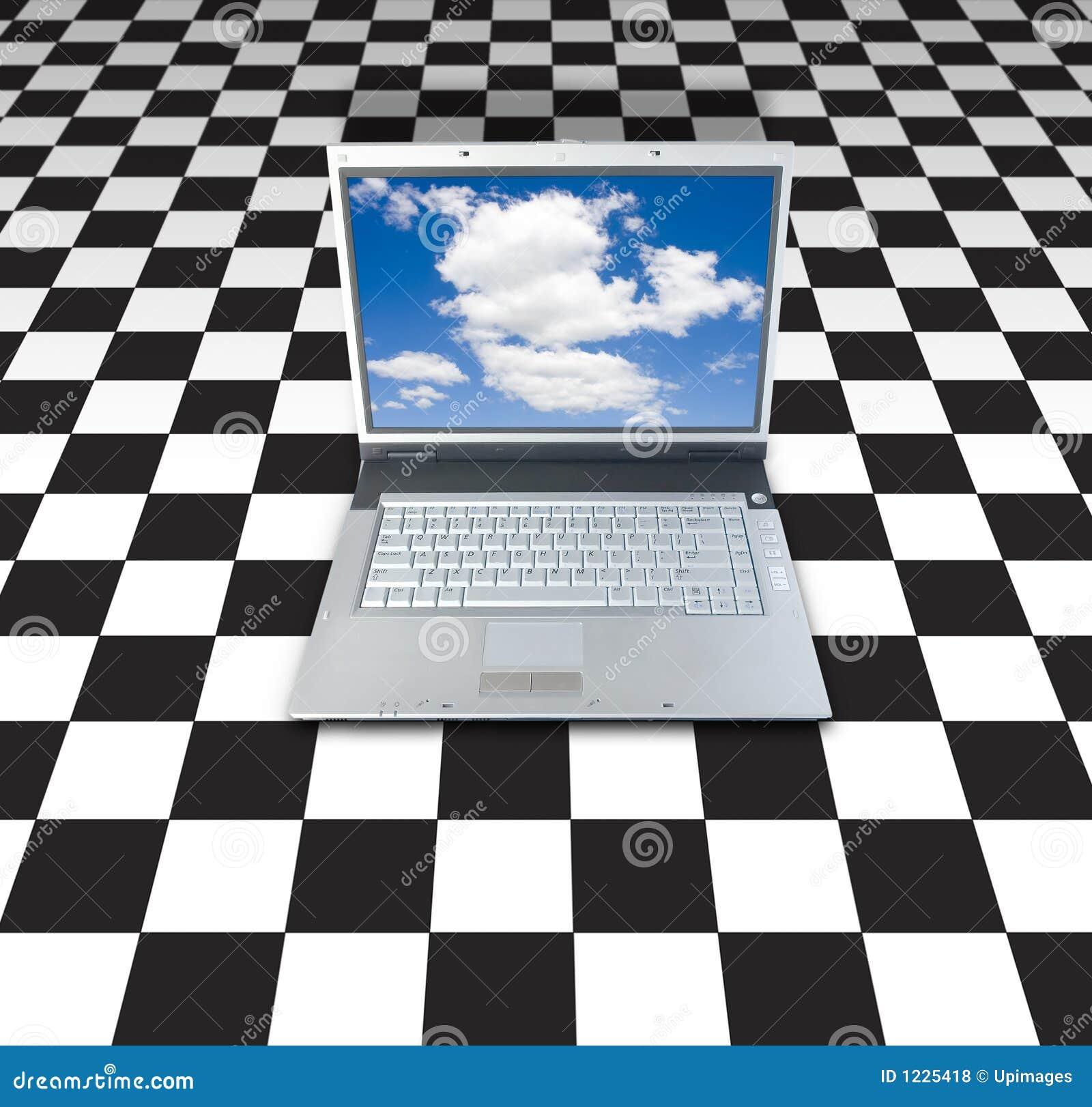 Laptop auf Kontrolleur-Vorstand