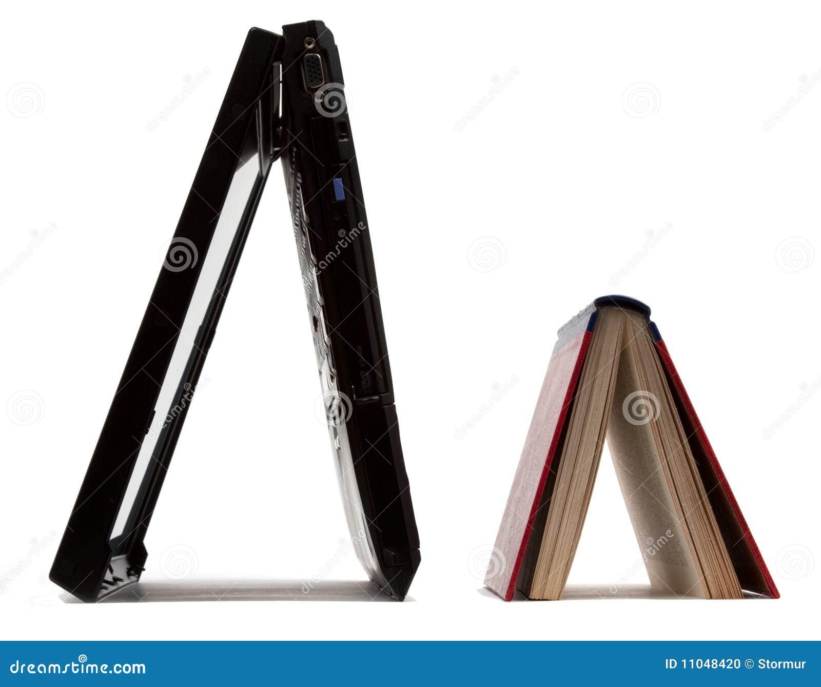 Laptop & book