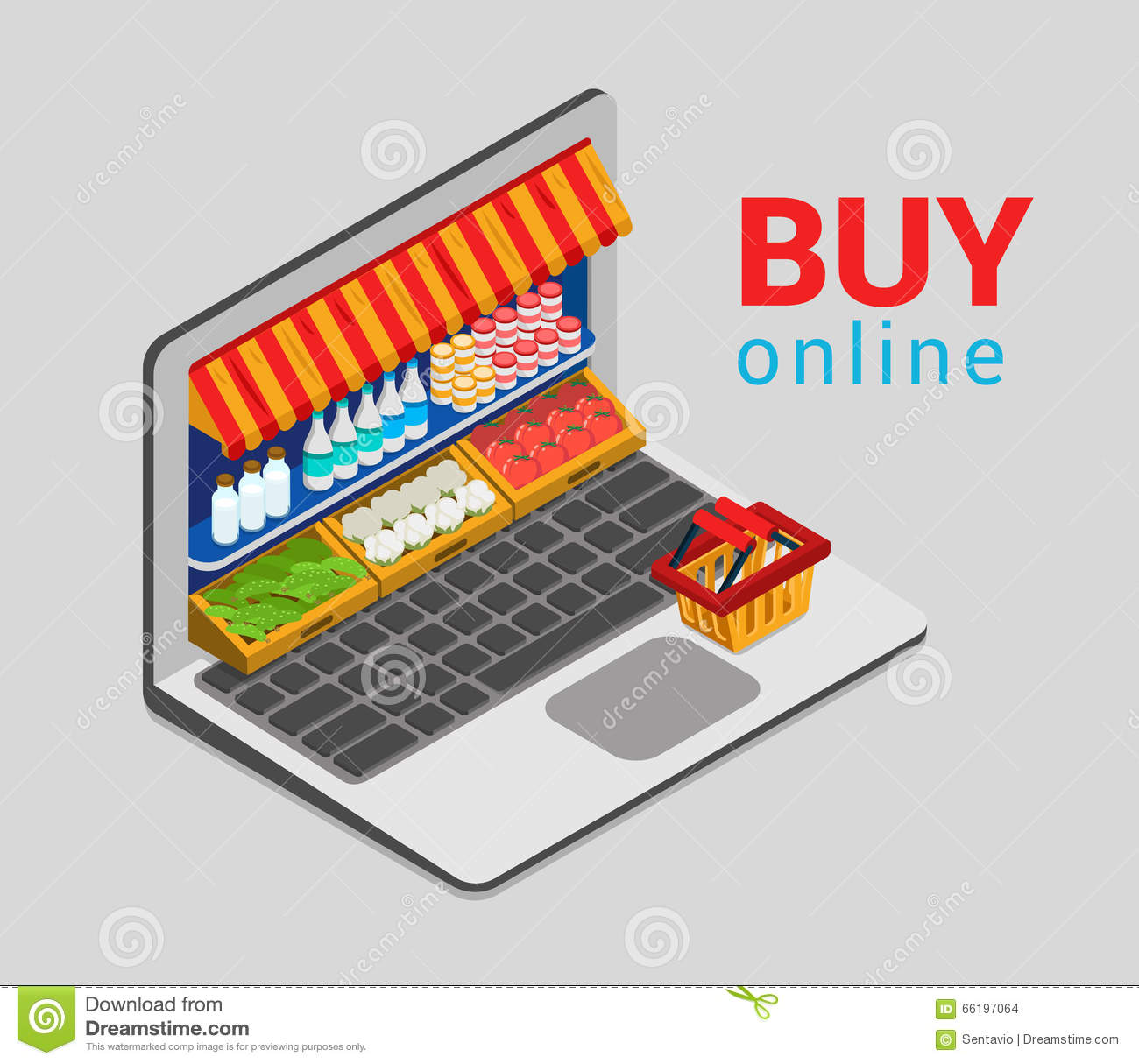 Online supermarket shop