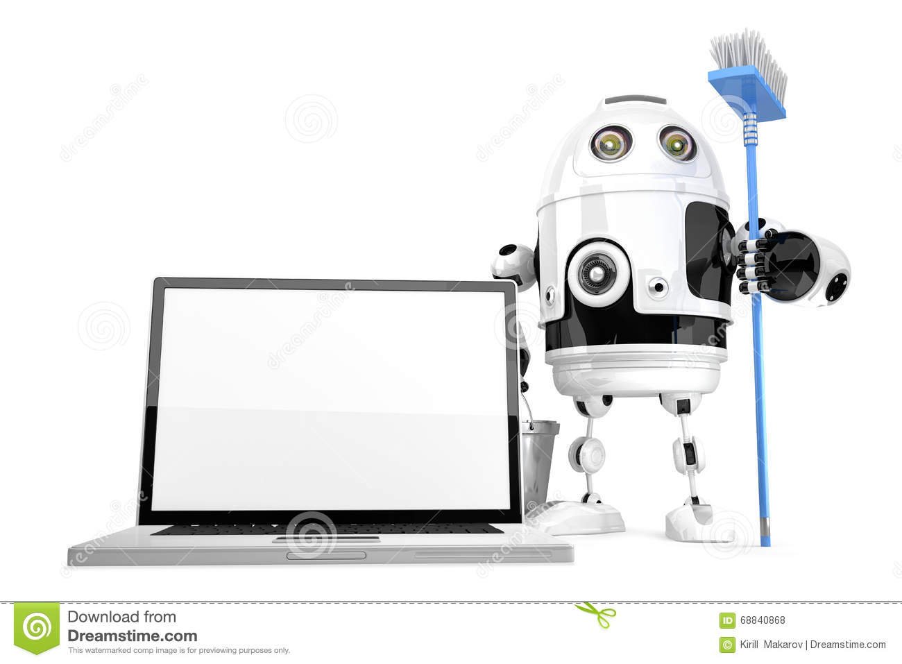robot cleaner with mop royalty
