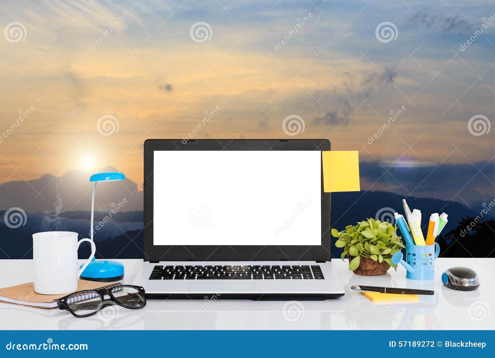 Landschaft hintergrund laptop