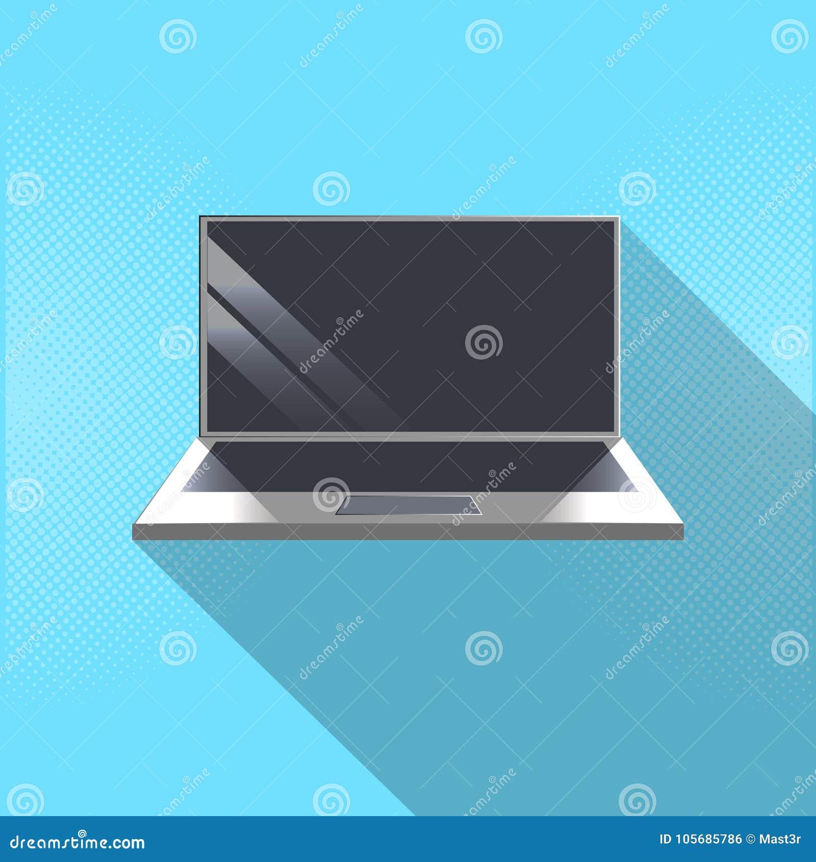 Laptop Computer Icon Modern Portable Gadget