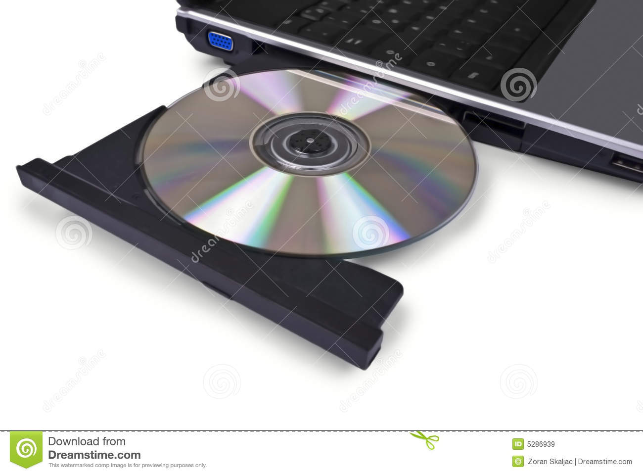 7d27f629163c Laptop Computer With Open Optical Disk Drive, Cd, Stock Image ...