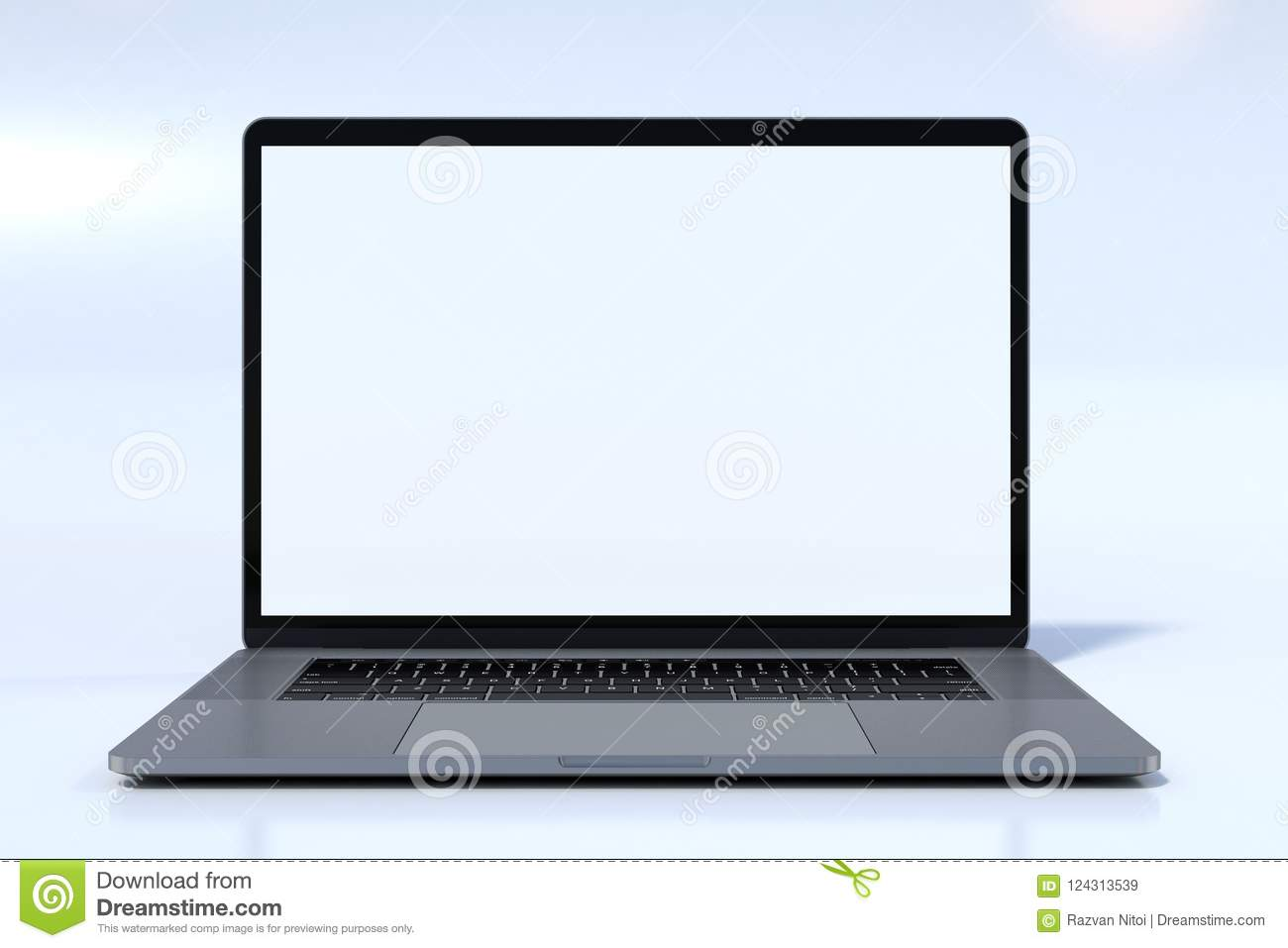 MacBook Pro style laptop computer front view