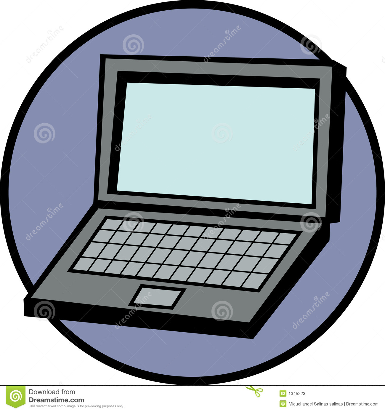 Laptop Computer Vector Illustration Stock Vector ... Laptop Vector Illustration