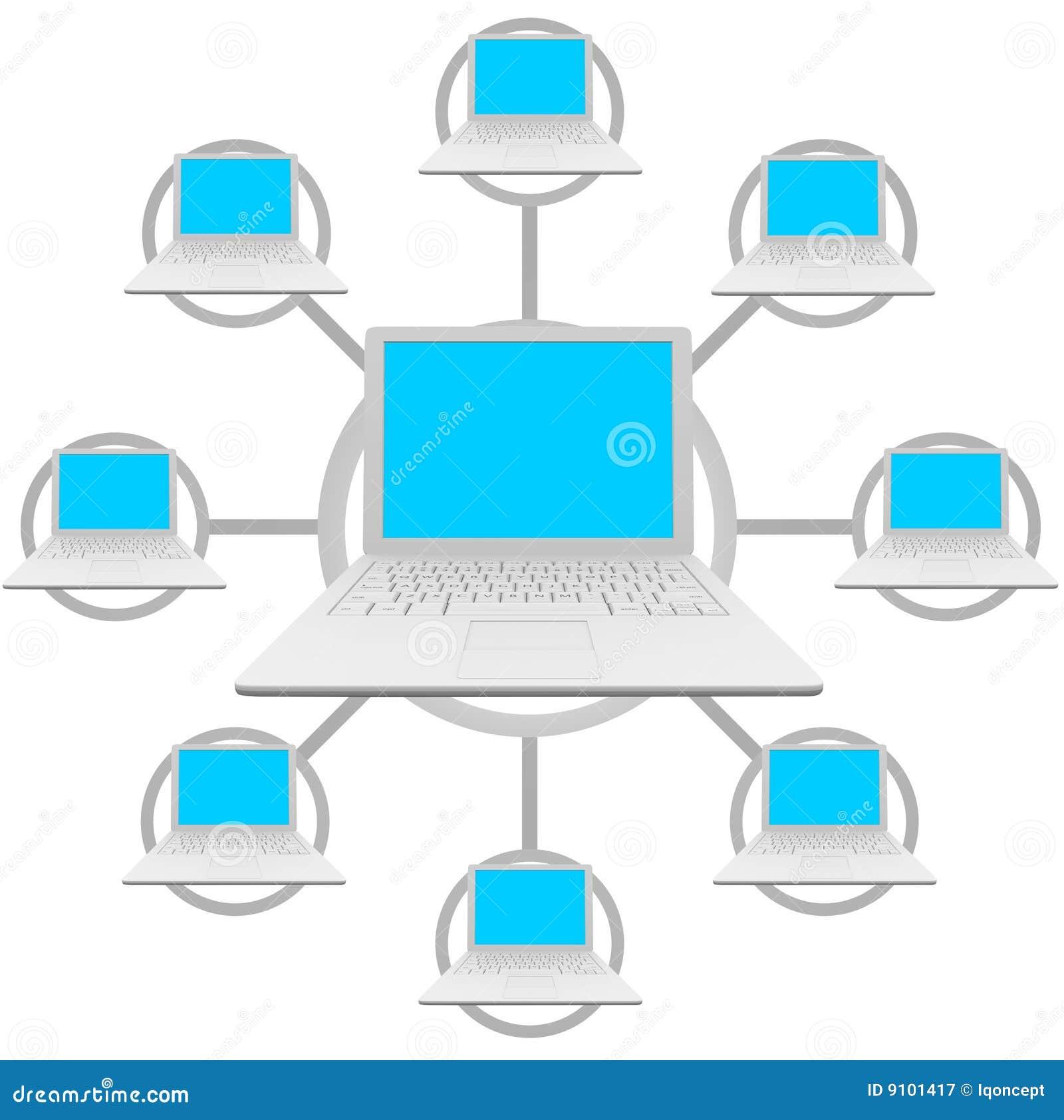 Laptop Computers - het Sociale Net van het Netwerk